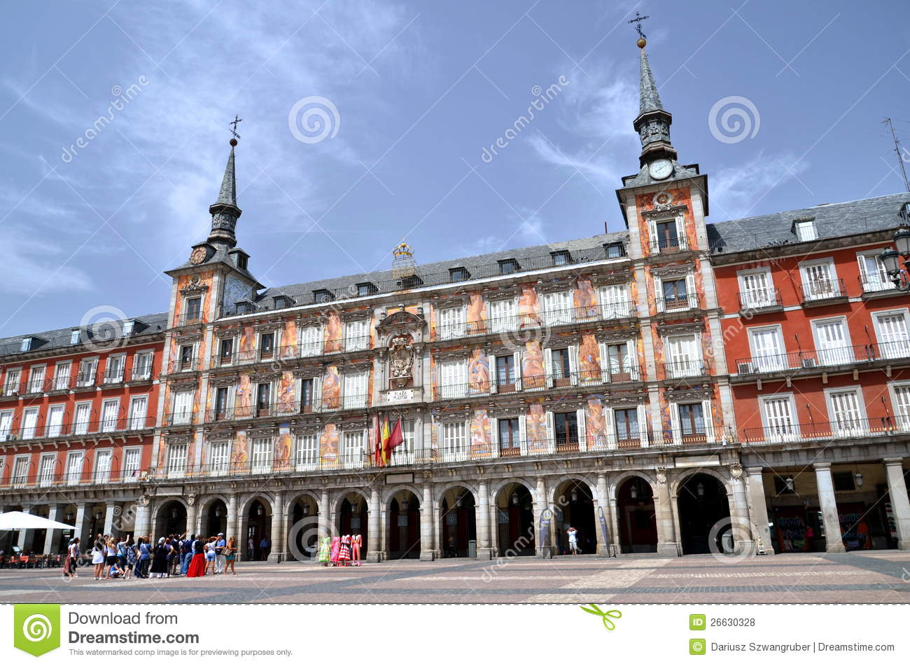 Casa de la panaderia on plaza mayor in madrid spa editorial stock photo image 26630328 - Casa de la panaderia madrid ...