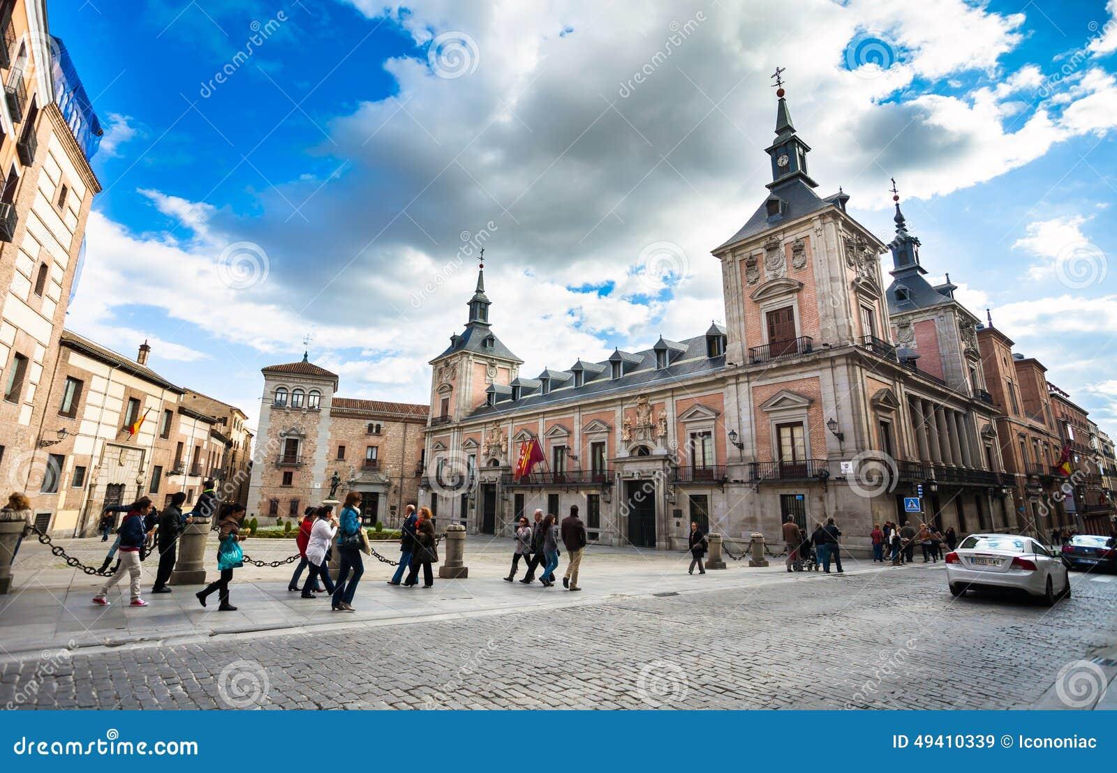 Download Casa De La Villa Im Landhaus-Quadrat (Plaza De La Villa) Die Stadt Ha Redaktionelles Stockbild - Bild von madrid, outdoor: 49410339