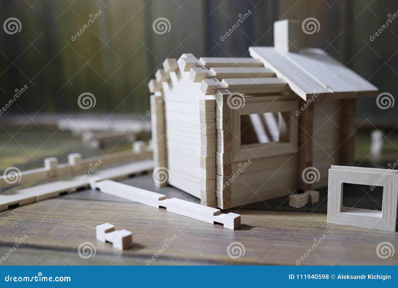 De Hacen Del La Constructor El Madera Juguete Casa Natural yv76IYbfgm
