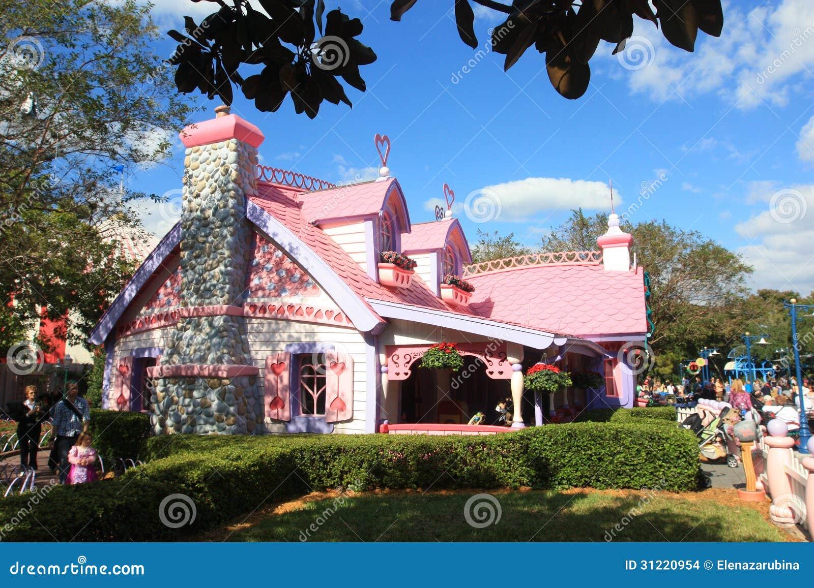 Casa de minnie mouse imagem de stock editorial imagem - Casa de minnie mouse ...