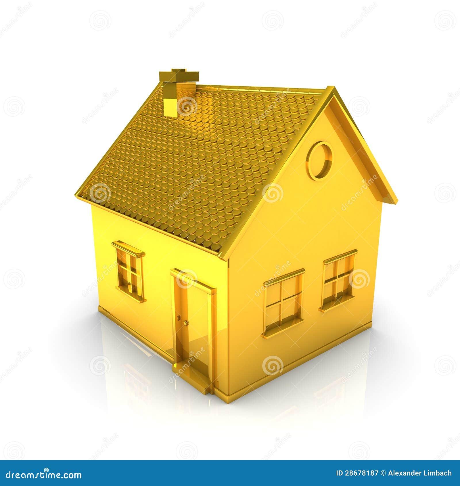 5 Casas hechas de oro con diamante.