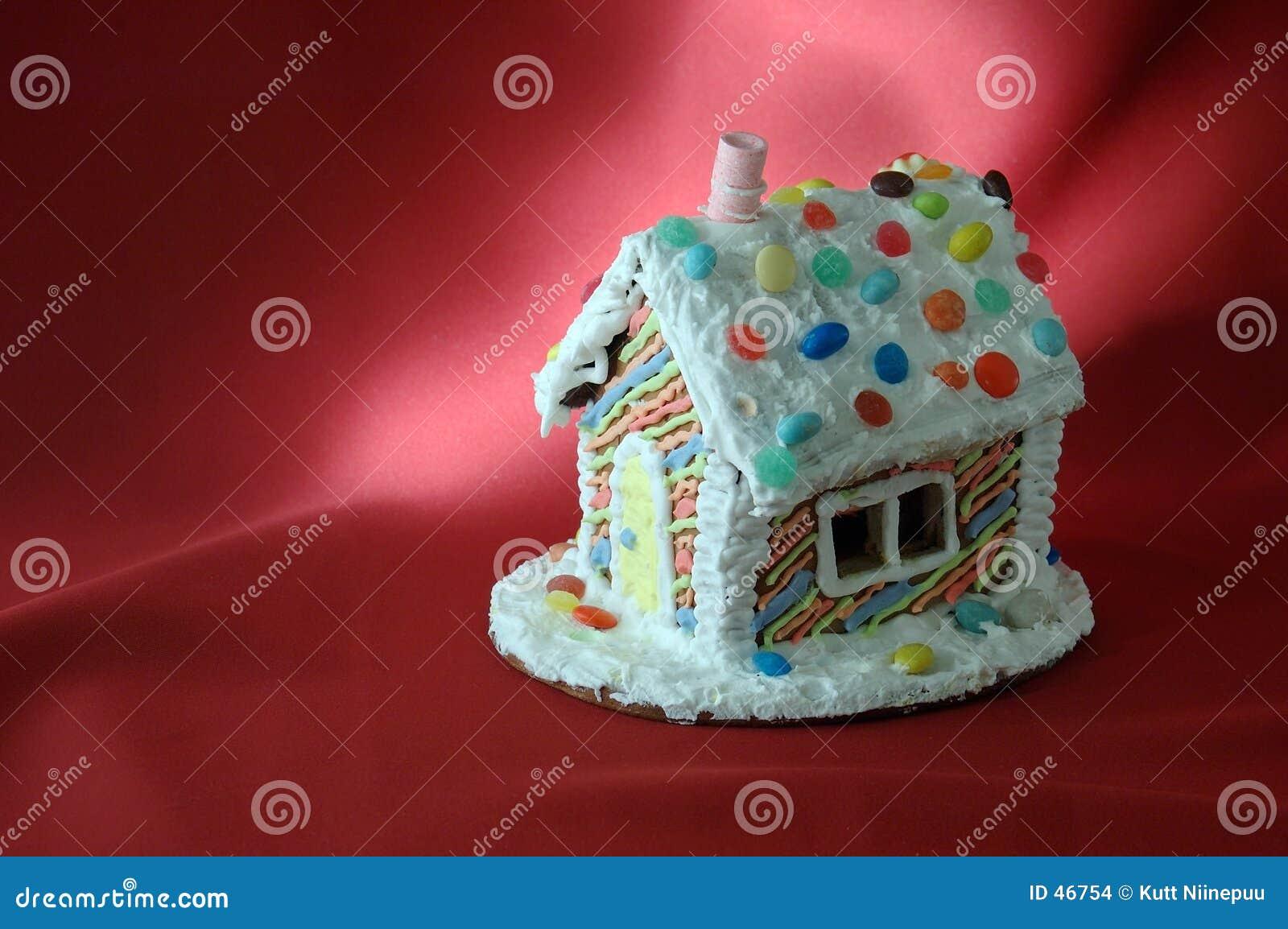 Casa de pan de jengibre de la Navidad