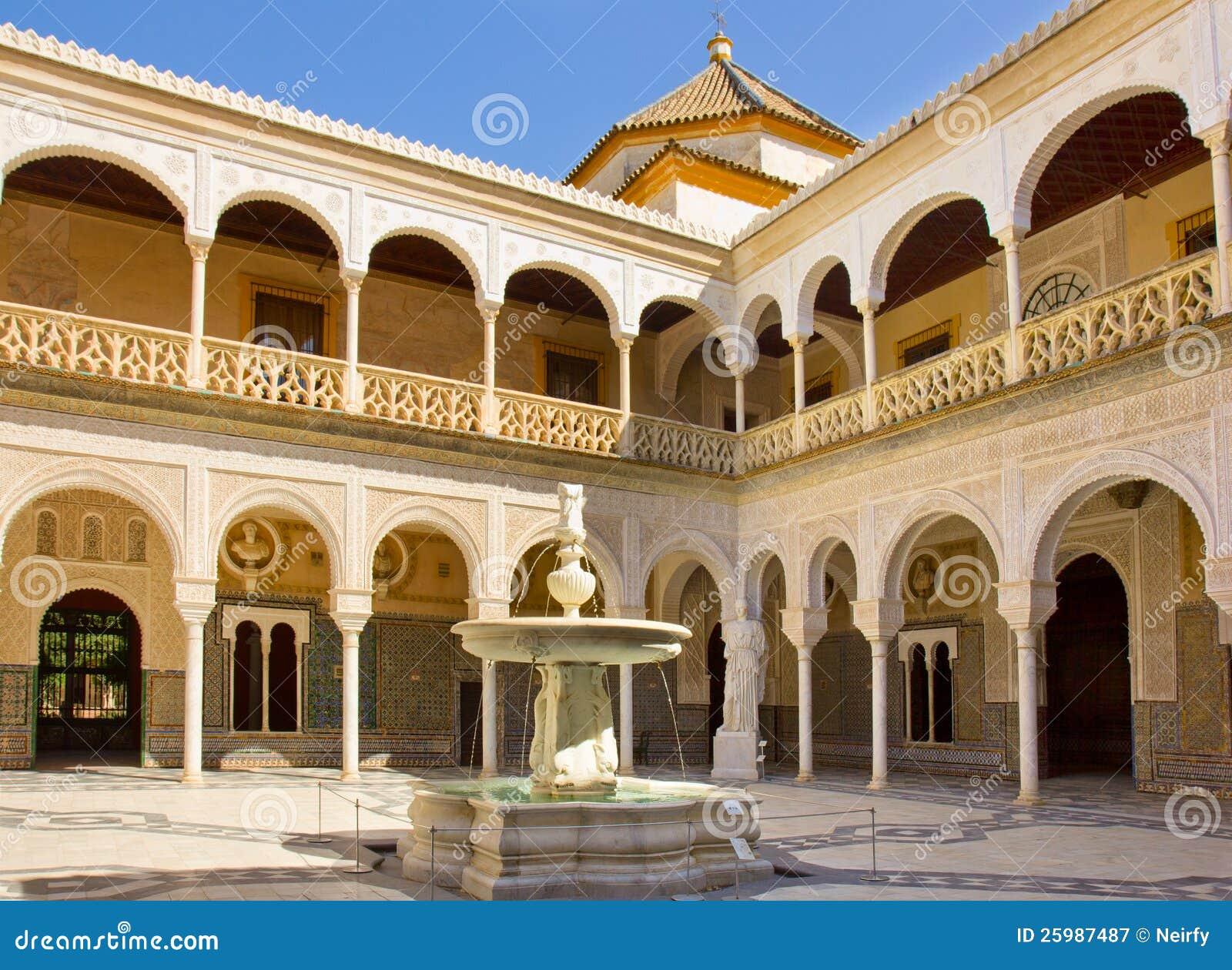 Casa de pilatos seville andalusia spain stock image for Casas de sofas en sevilla