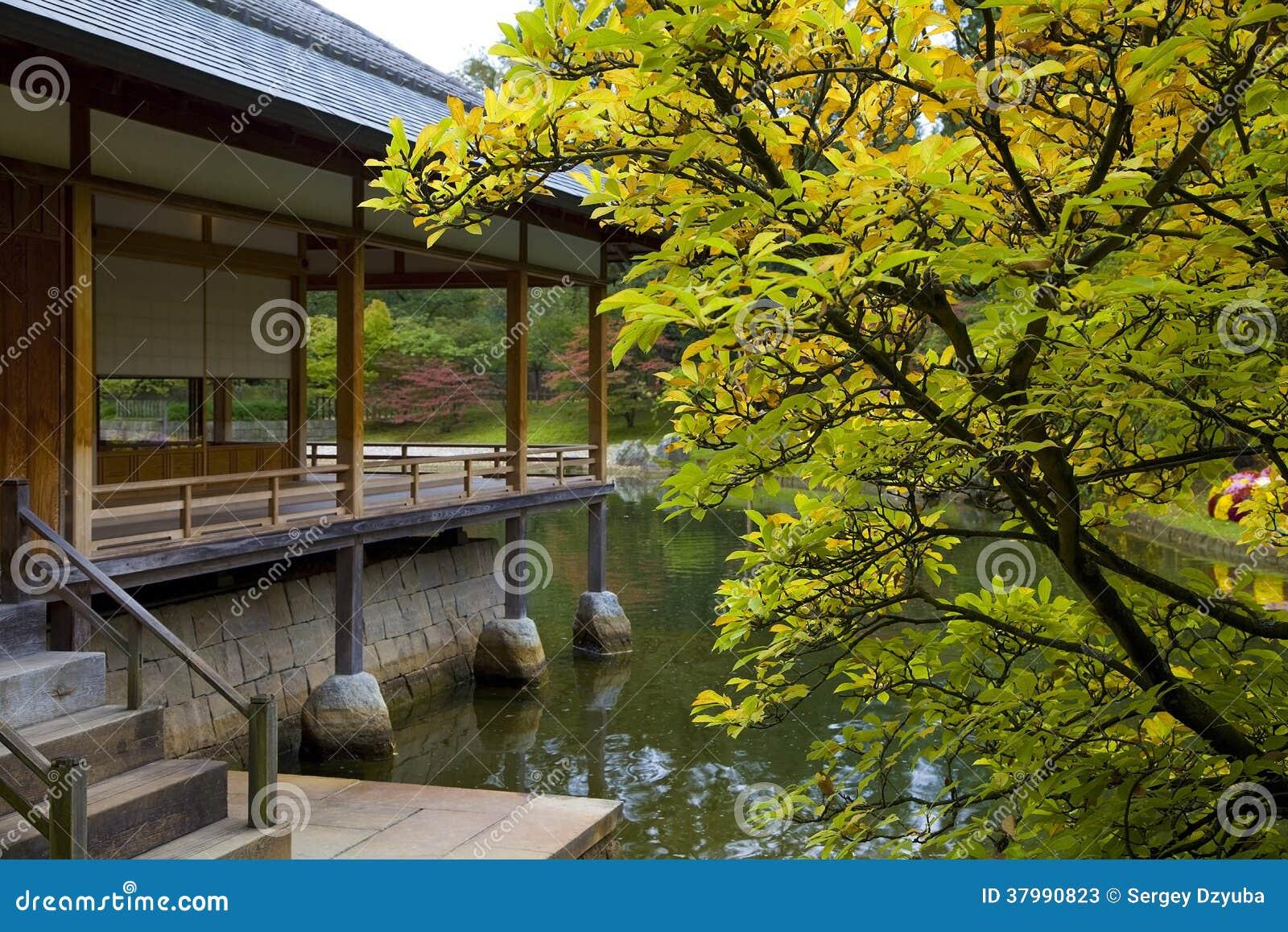 Casa De T En Jard N Japon S Fotos De Archivo Imagen