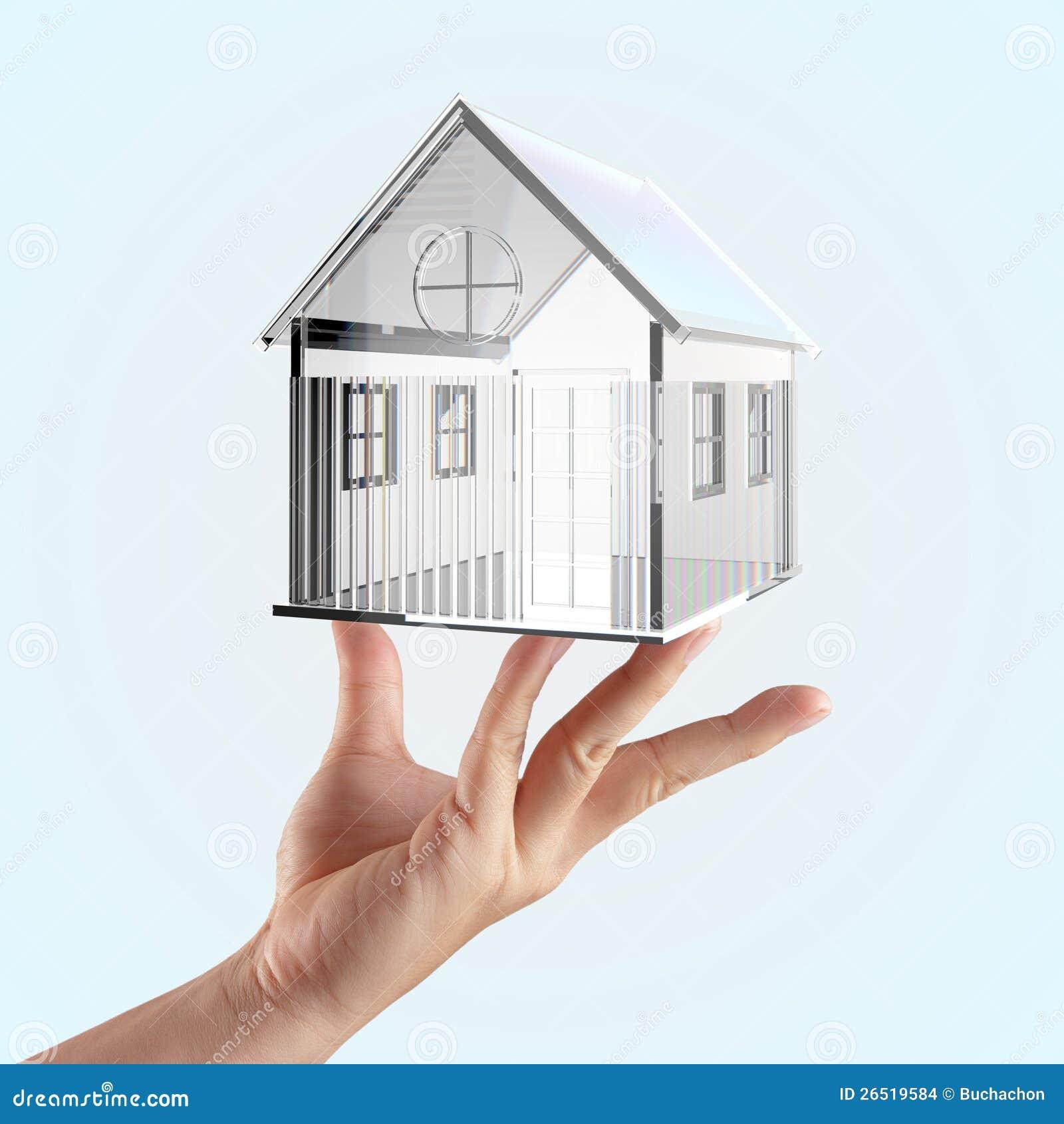 A casa de vidro pequena