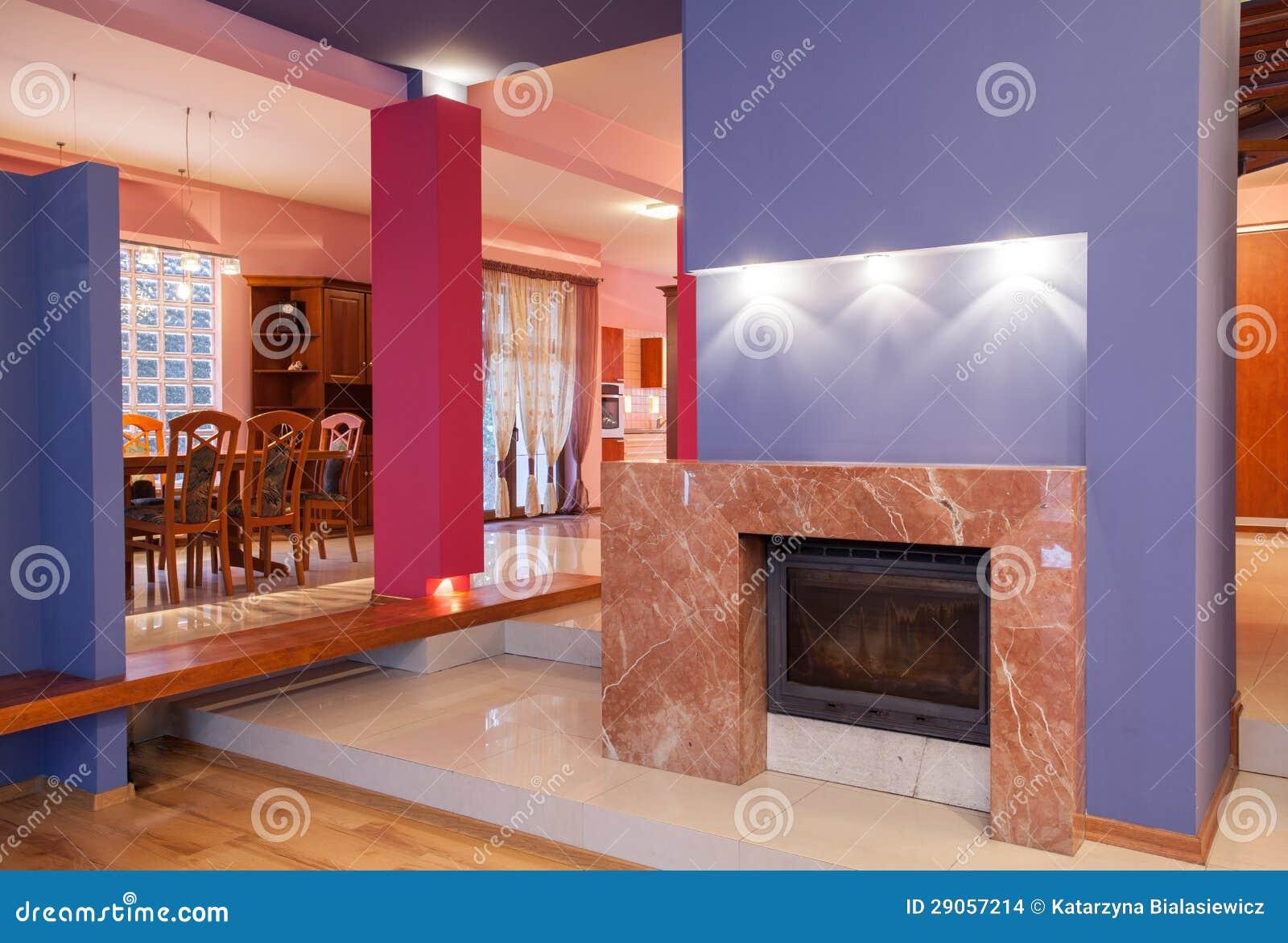 Casa del amaranto - chimenea