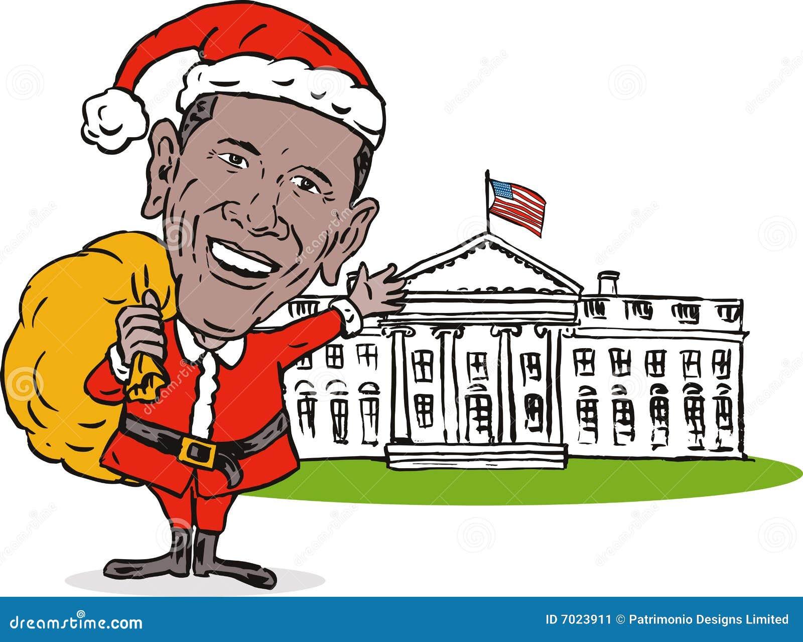 Casa del blanco de Obama Papá Noel