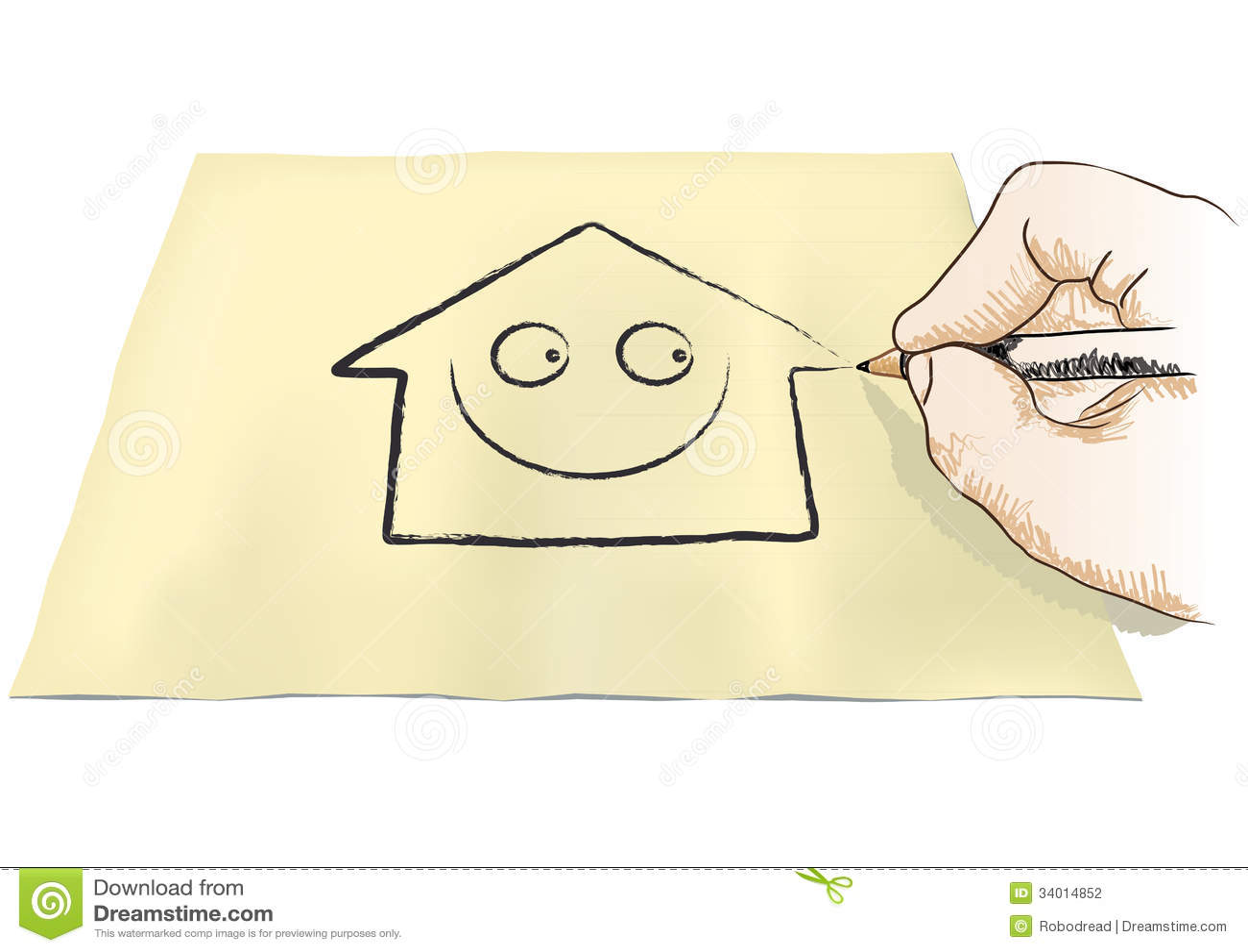 Casa del disegno della mano fotografia stock immagine for Disegno della casa