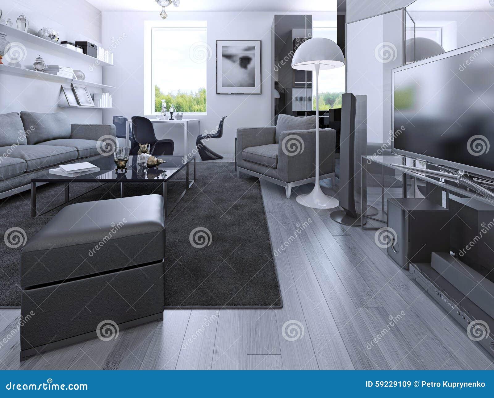 Download Casa Del Estudio De La Sala De Estar En Privado Stock de ilustración - Ilustración de concreto, deco: 59229109