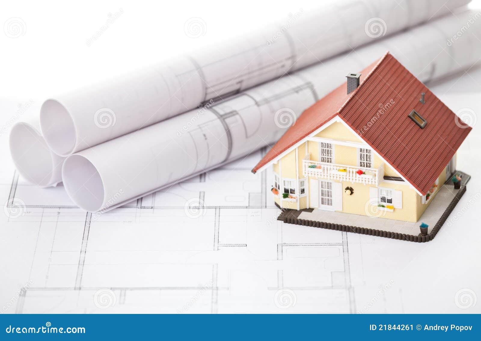 Casa del nuovo modello sul programma della cianografia di for Programma di disegno della casa libera