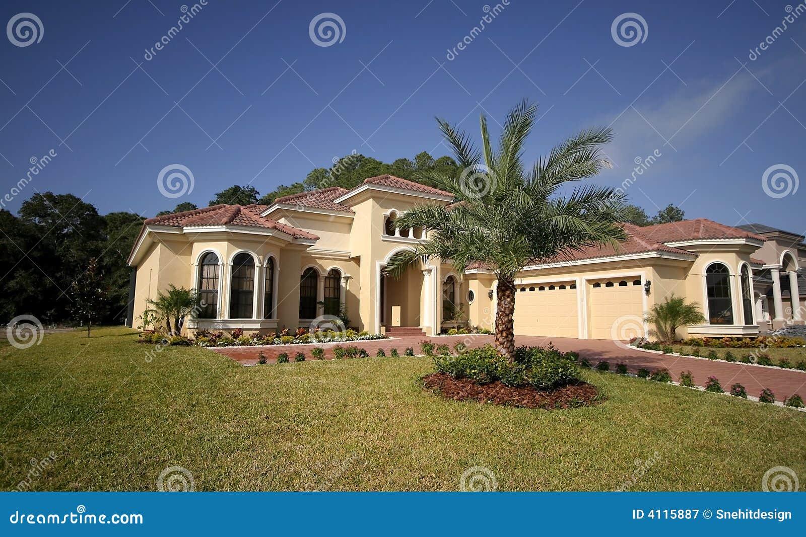 Casa della florida immagine stock immagine di propriet for Programma di disegno della casa libera