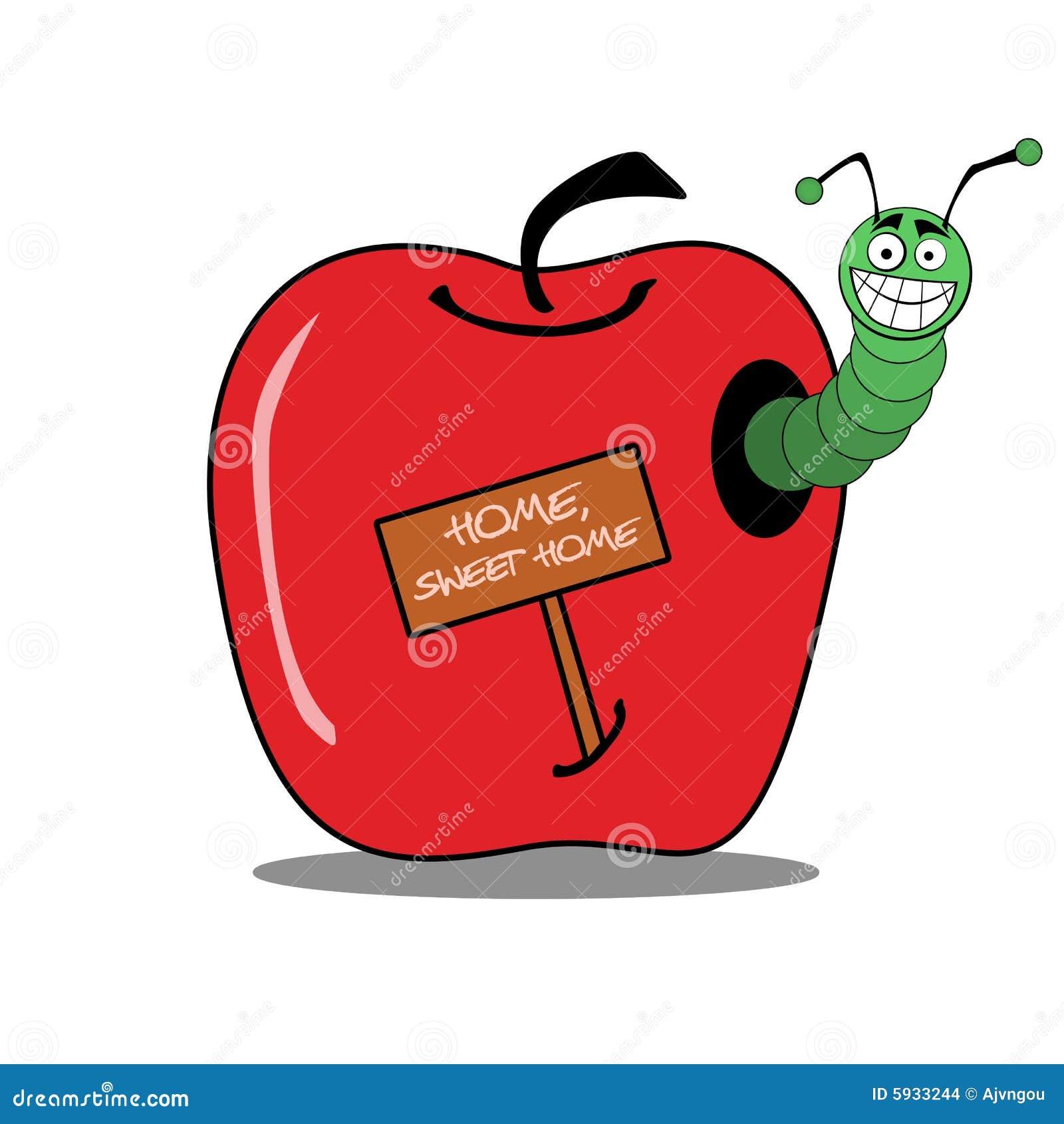 Casa della mela della vite senza fine illustrazione di for Disegni semplici della casa del bungalow