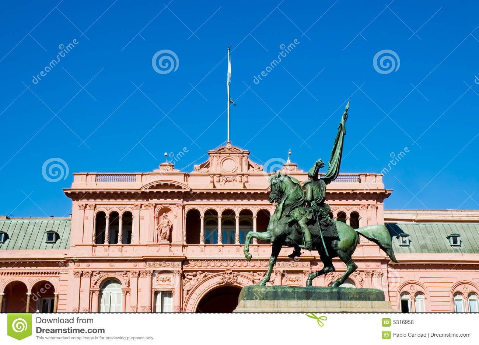 Download Casa Dentellare, Buenos Aires. Fotografia Stock - Immagine di bronzo, politico: 5316958