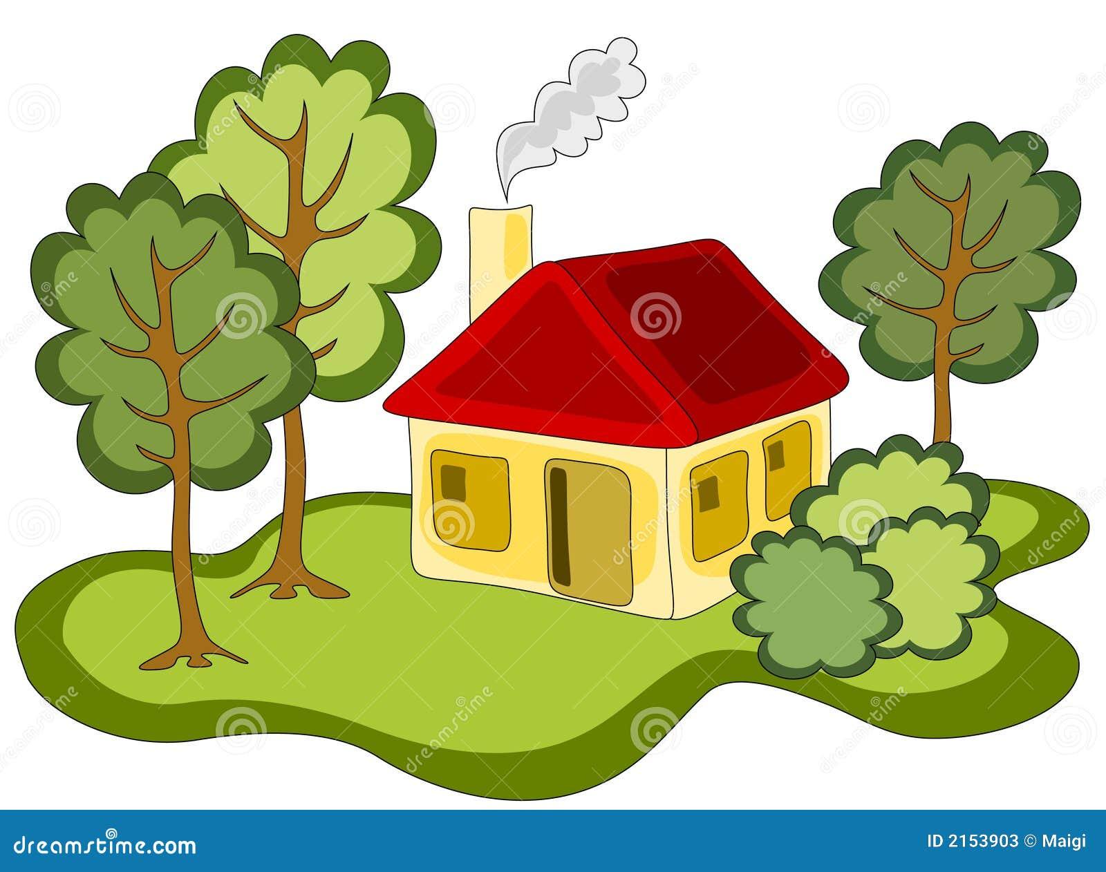 Casa di campagna illustrazione vettoriale illustrazione for Schierandosi casa di ranch