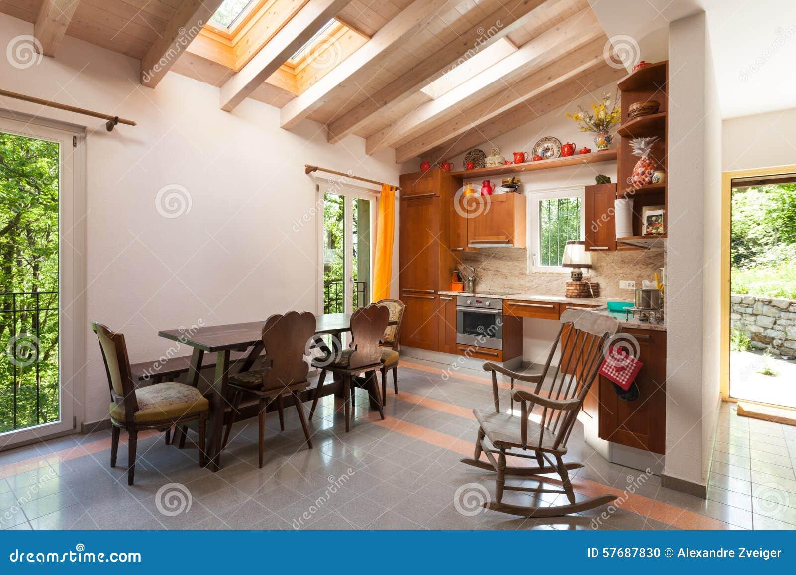 Casa Di Campagna, Cucina Fotografia Stock - Immagine: 57687830