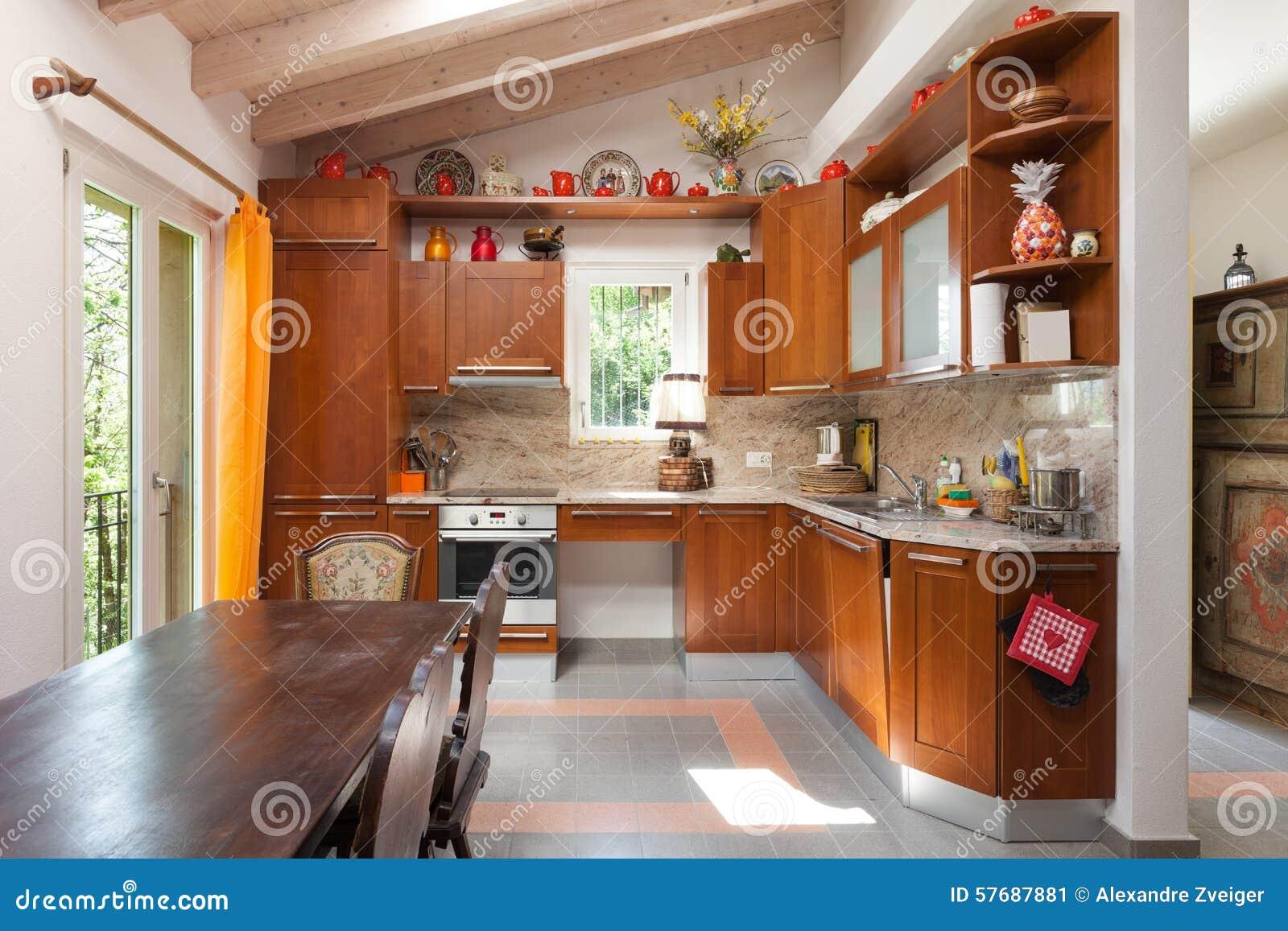 Cucine di campagna dettagli della cucina di campagna in legno di design classico moderno neo u - Cucina di campagna ...