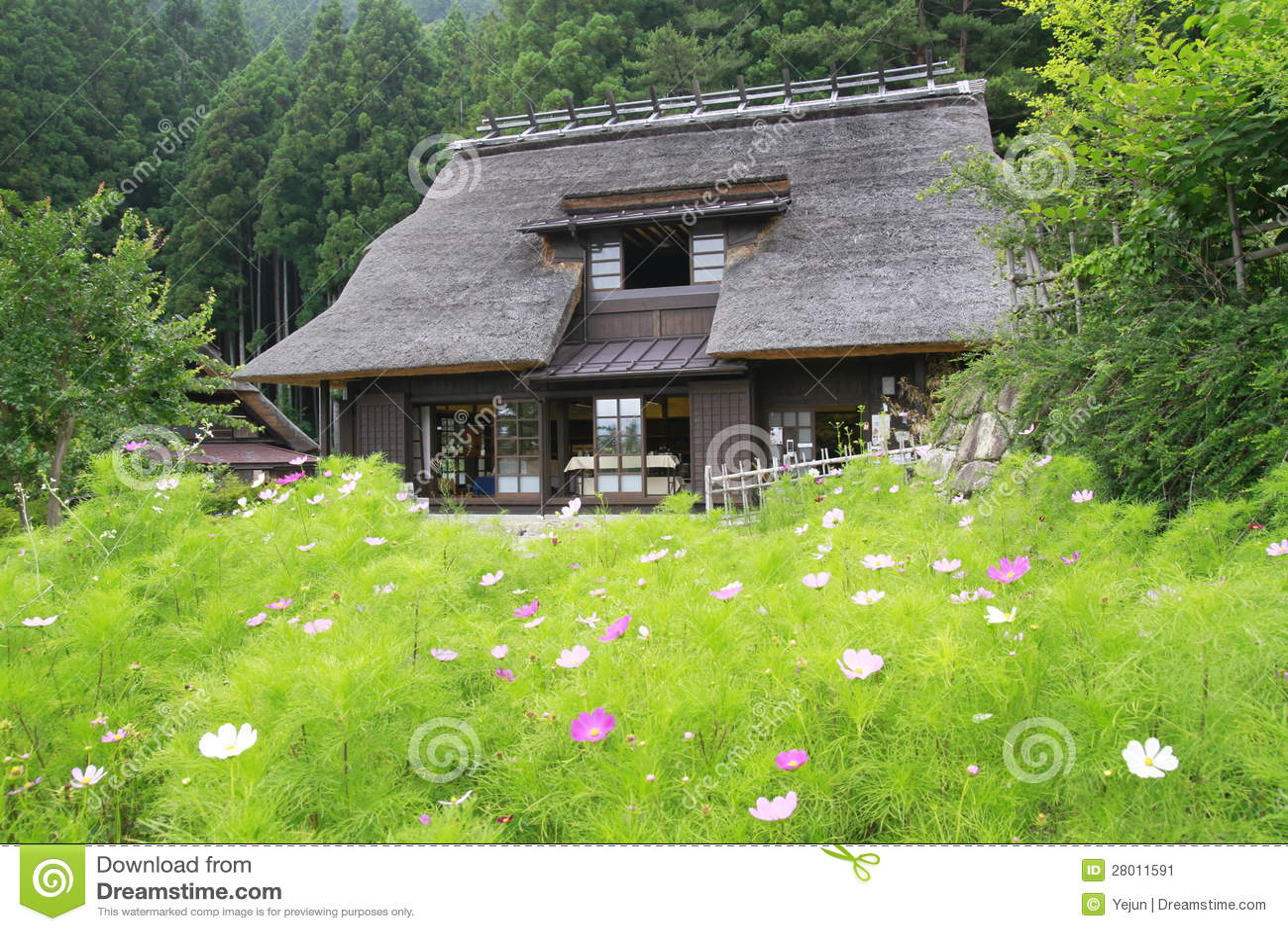 Casa di campagna del giapponese di stile tradizionale for Architettura in stile cottage