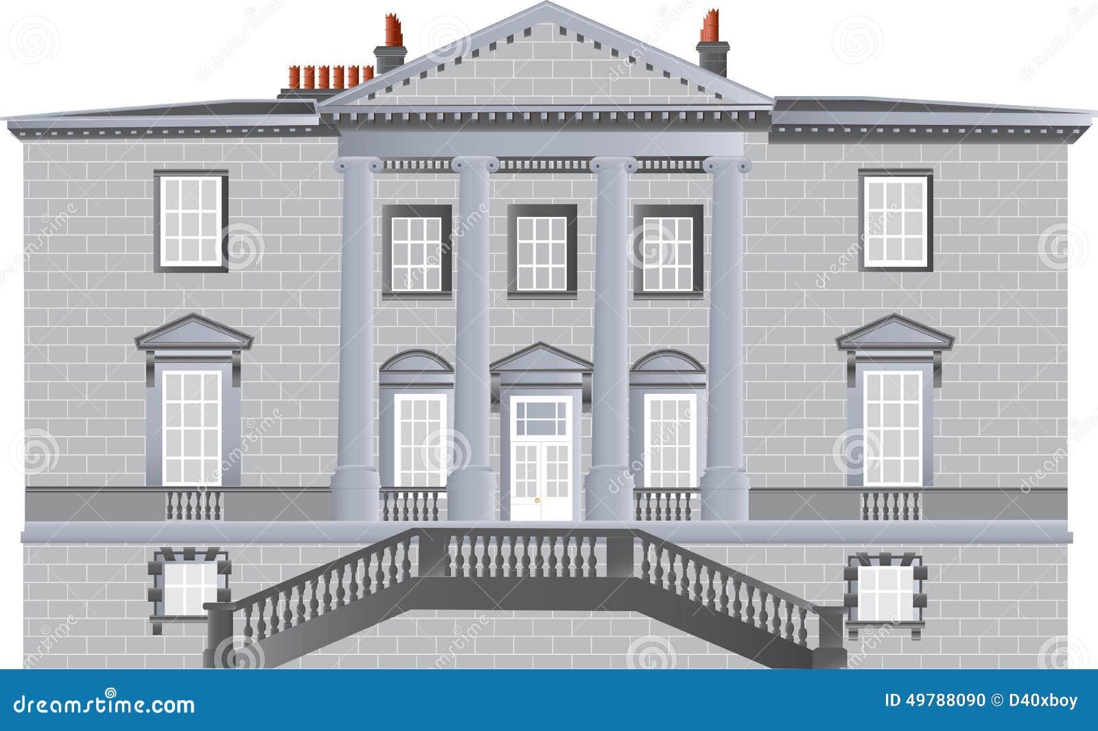 Casa di campagna inglese illustrazione vettoriale for Design di casa di campagna inglese