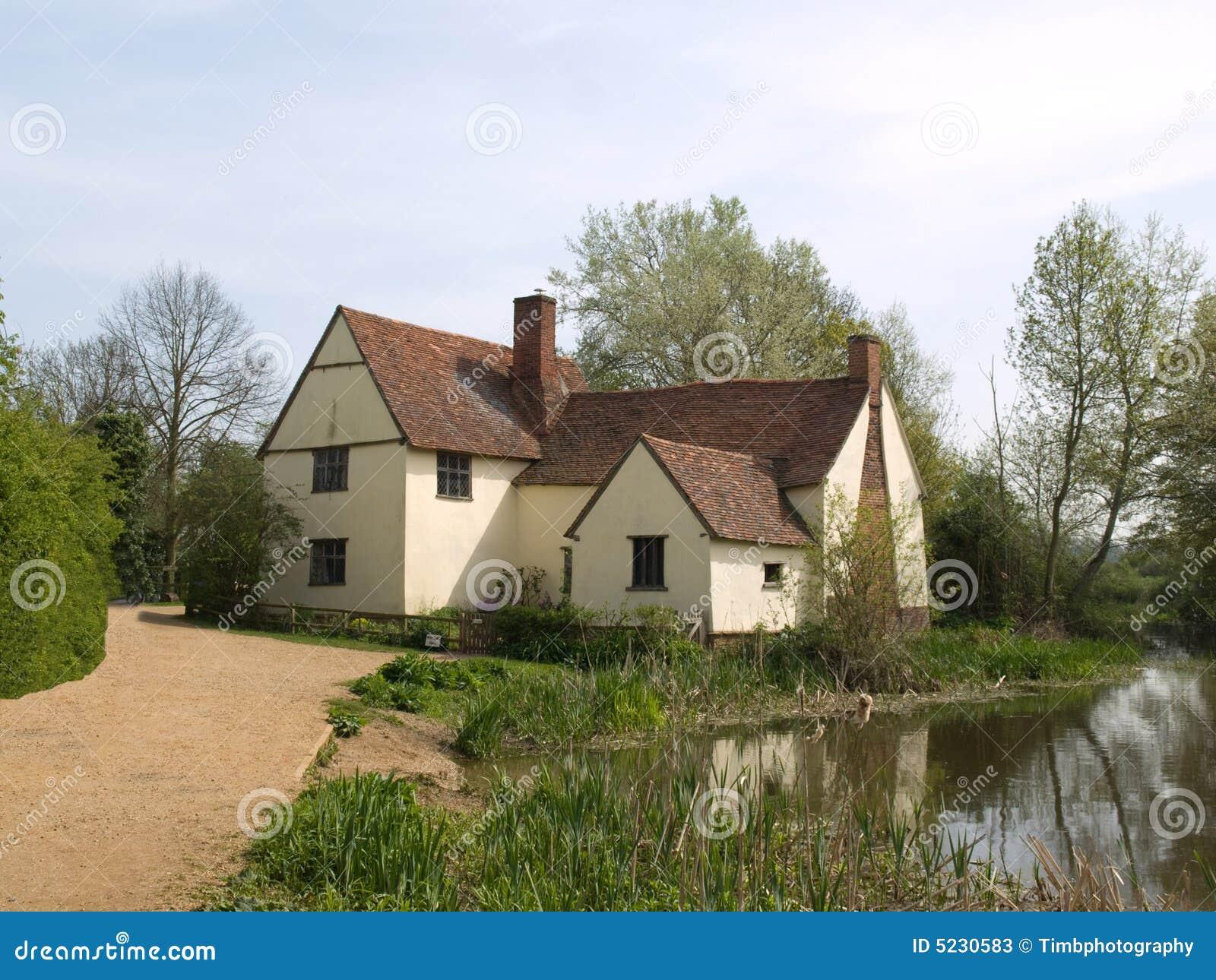 Casa di campagna inglese immagine stock immagine di for Piani casa colonica di campagna