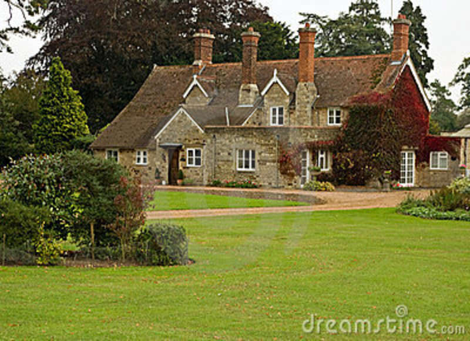 casa di campagna inglese immagine stock immagine 6599771