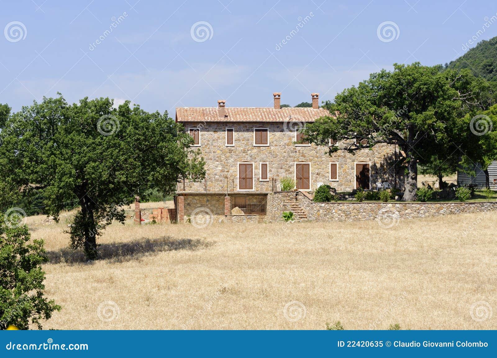 Casa di campagna in maremma toscana fotografia stock for Casa di campagna toscana
