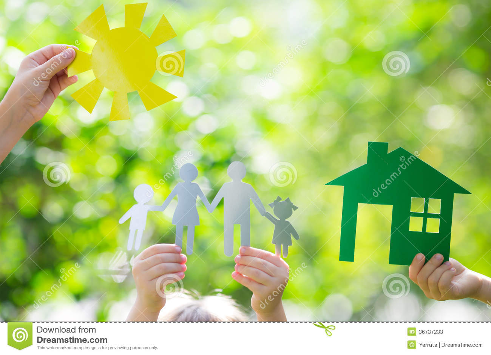 Casa di ecologia in mani