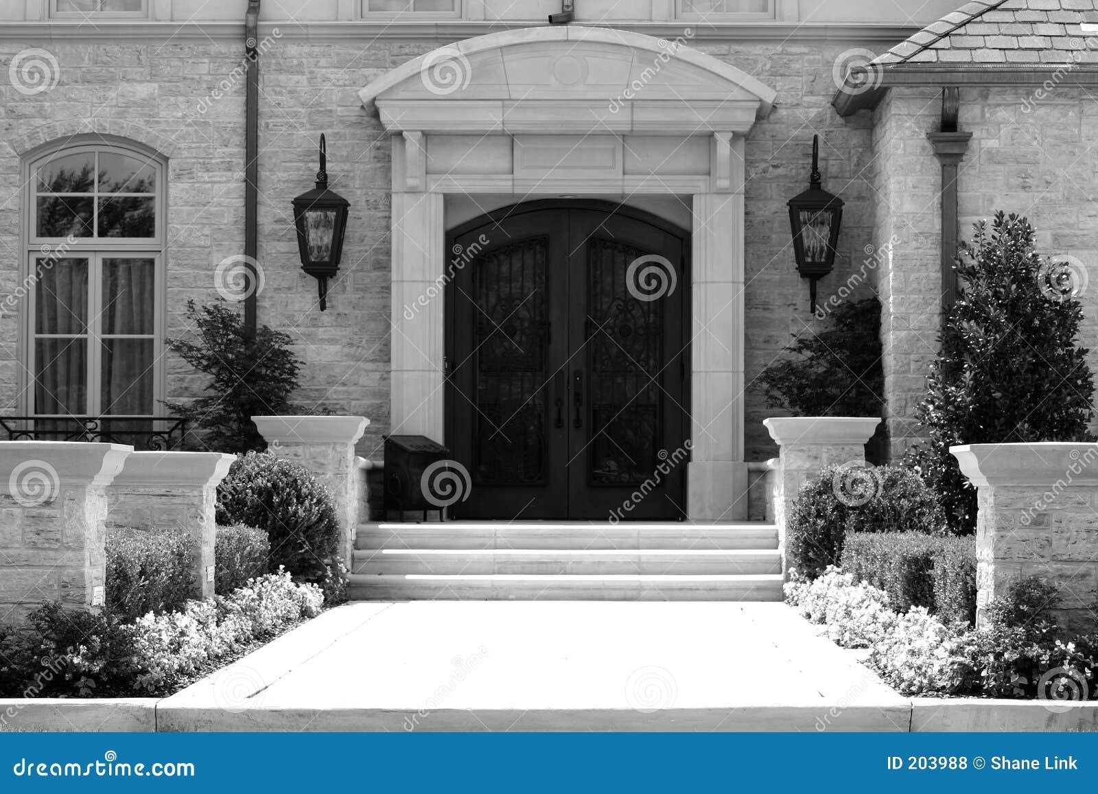 Casa di gradazione di grigio