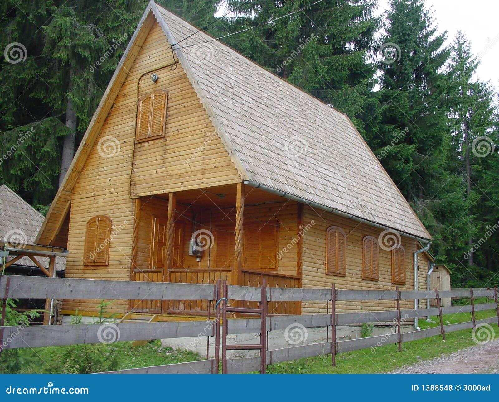 Casa di legno con le pareti del libro macchina ed il tetto - Alzare il tetto di casa ...