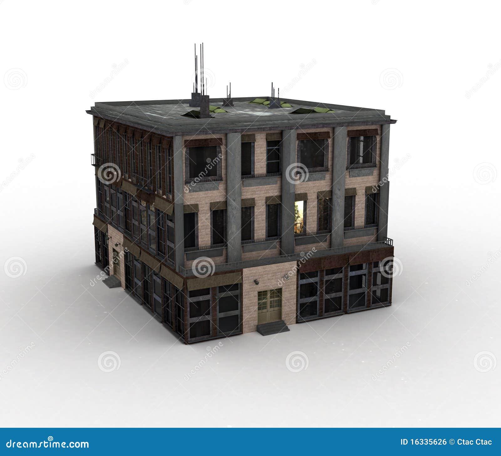Casa di modello illustrazione di stock immagine di garage for Materiali da costruzione di casa modello