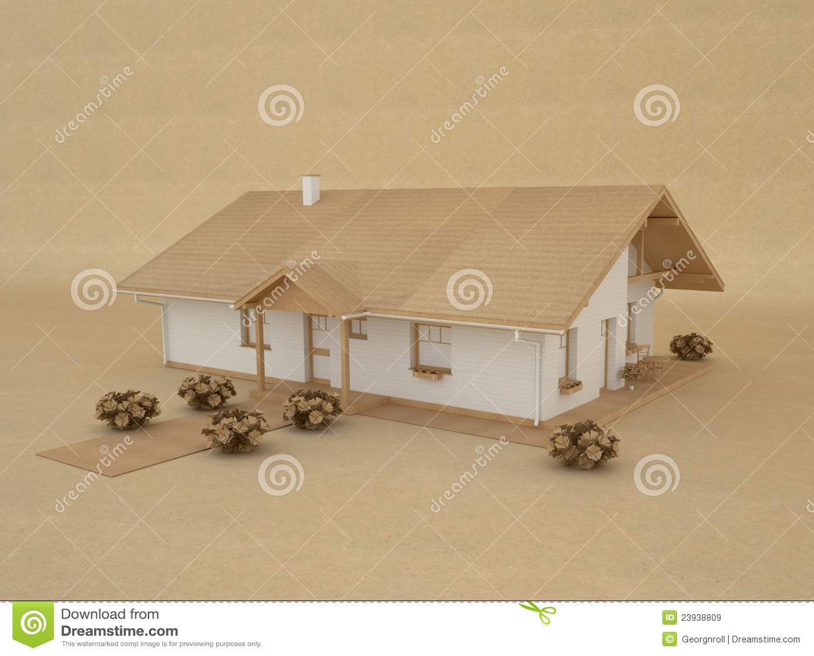 Casa di modello di carta illustrazione di stock immagine for Modello di casa