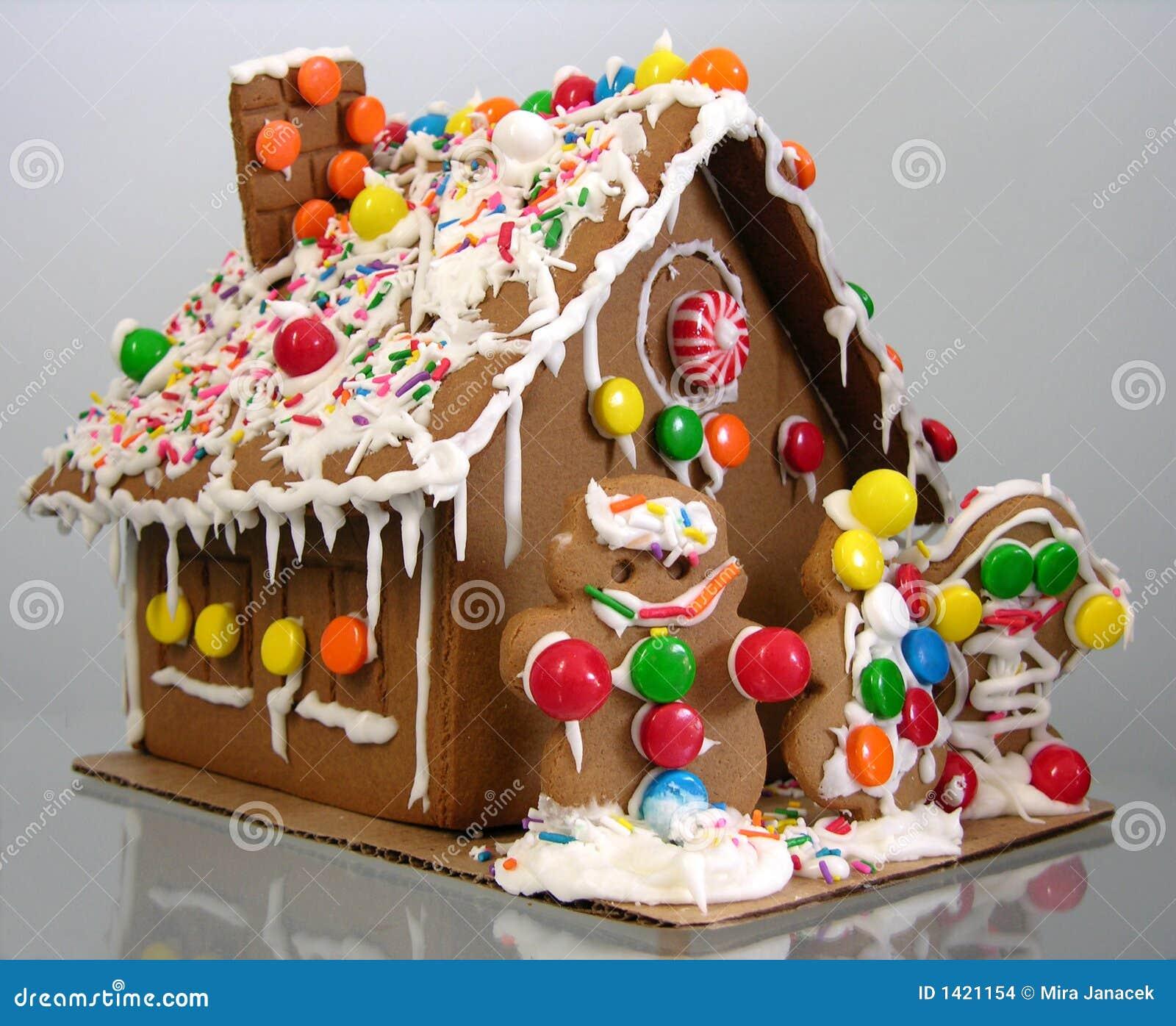 Casa di pan di zenzero immagini stock immagine 1421154 - Casa di caramelle ...