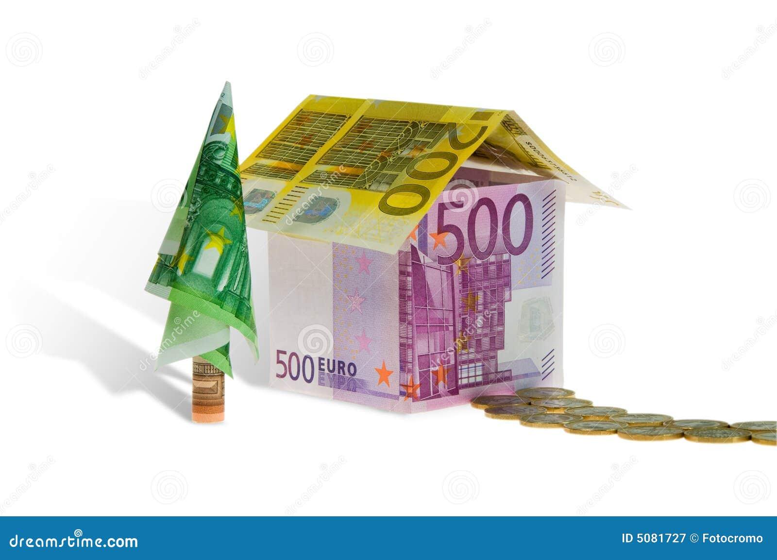 Casa di prestiti immobiliari fatta di soldi fotografia for Nuovi prestiti immobiliari