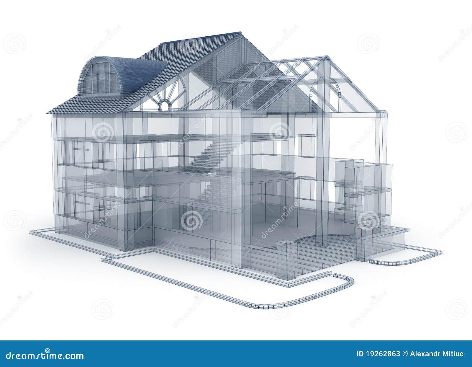 Casa di programma di architettura illustrazione di stock for Programma x arredare casa
