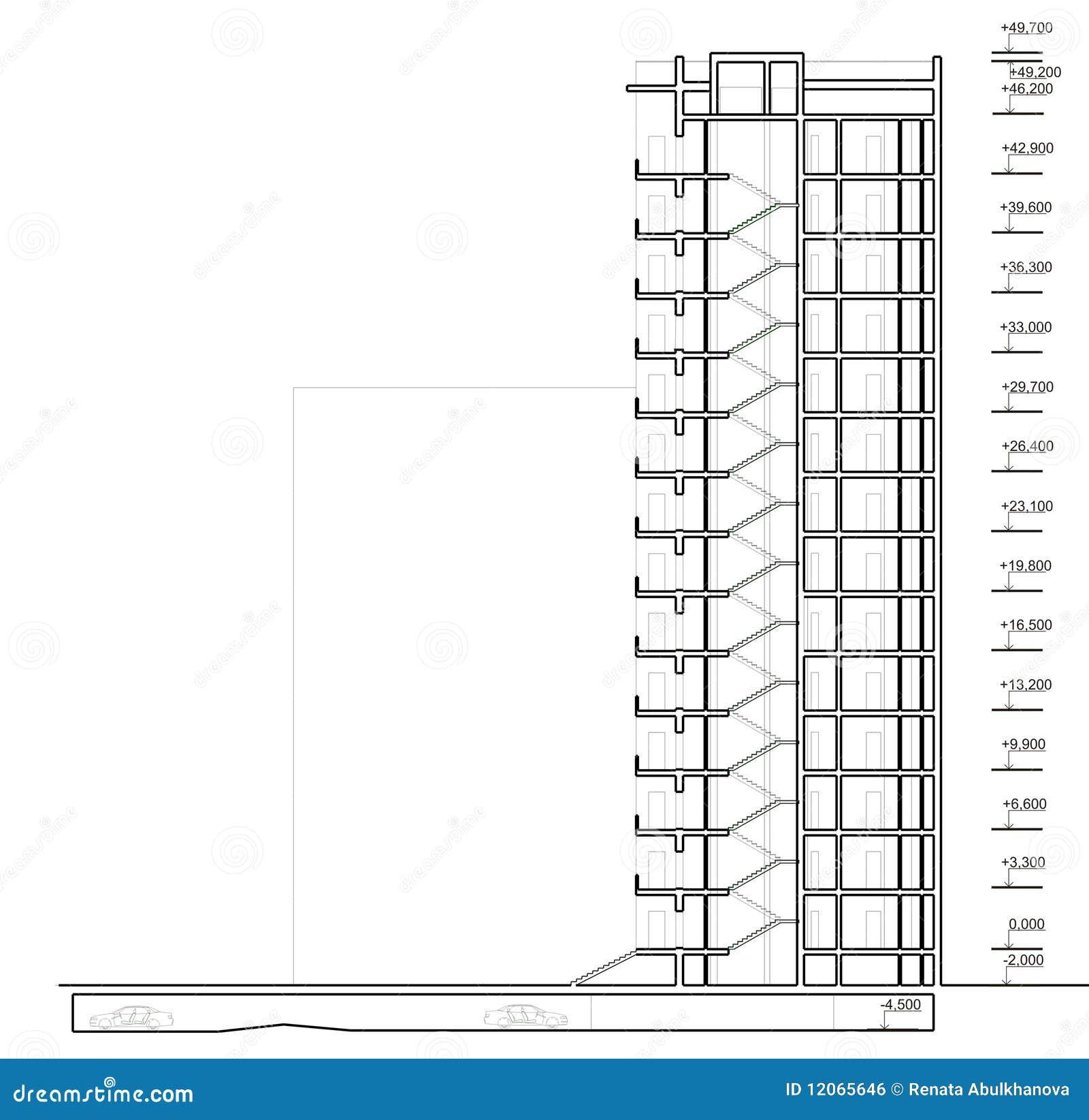 Casa di sezione verticale illustrazione di stock for Programma di disegno della casa libera
