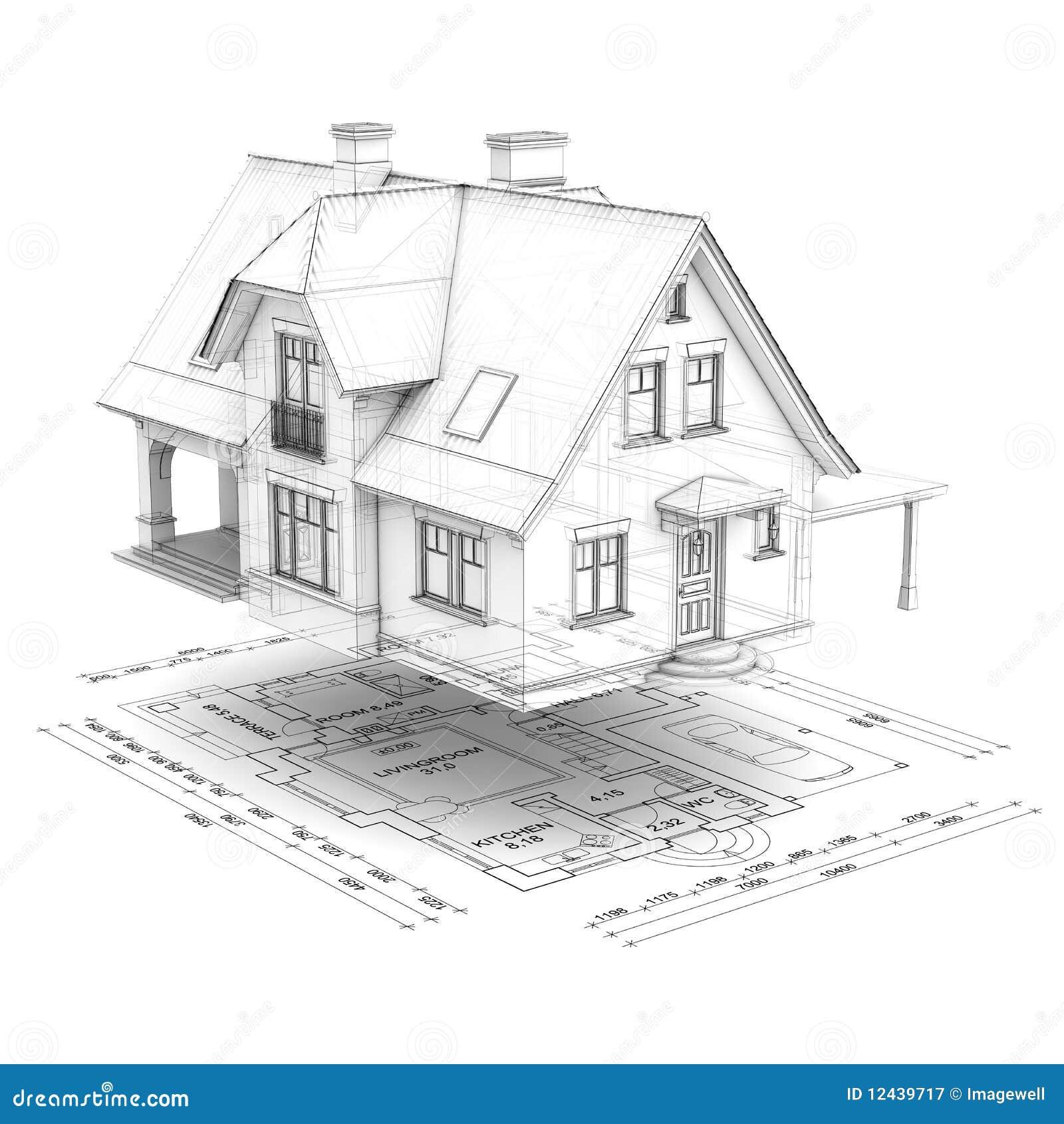 Casa di wireframe con il programma di pavimento for Programma architettura gratis