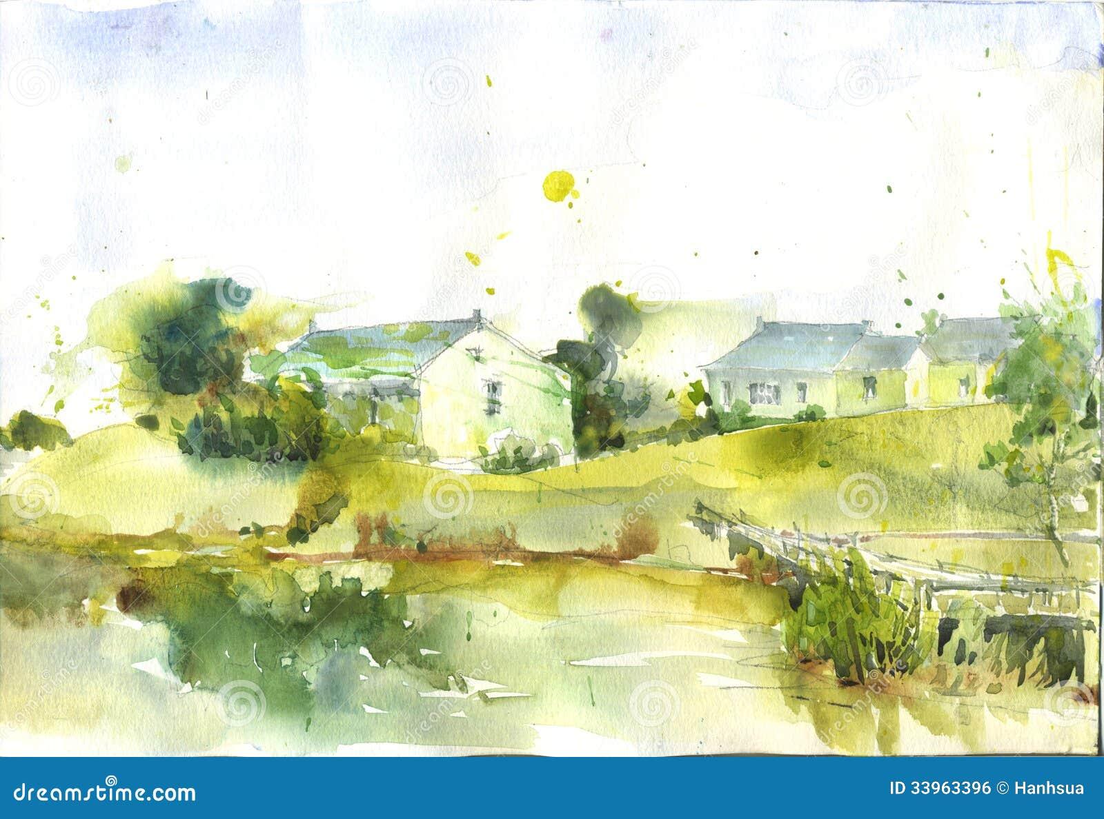 Casa disegnata a mano della porcellana della pittura dell for Programma di disegno della casa libera