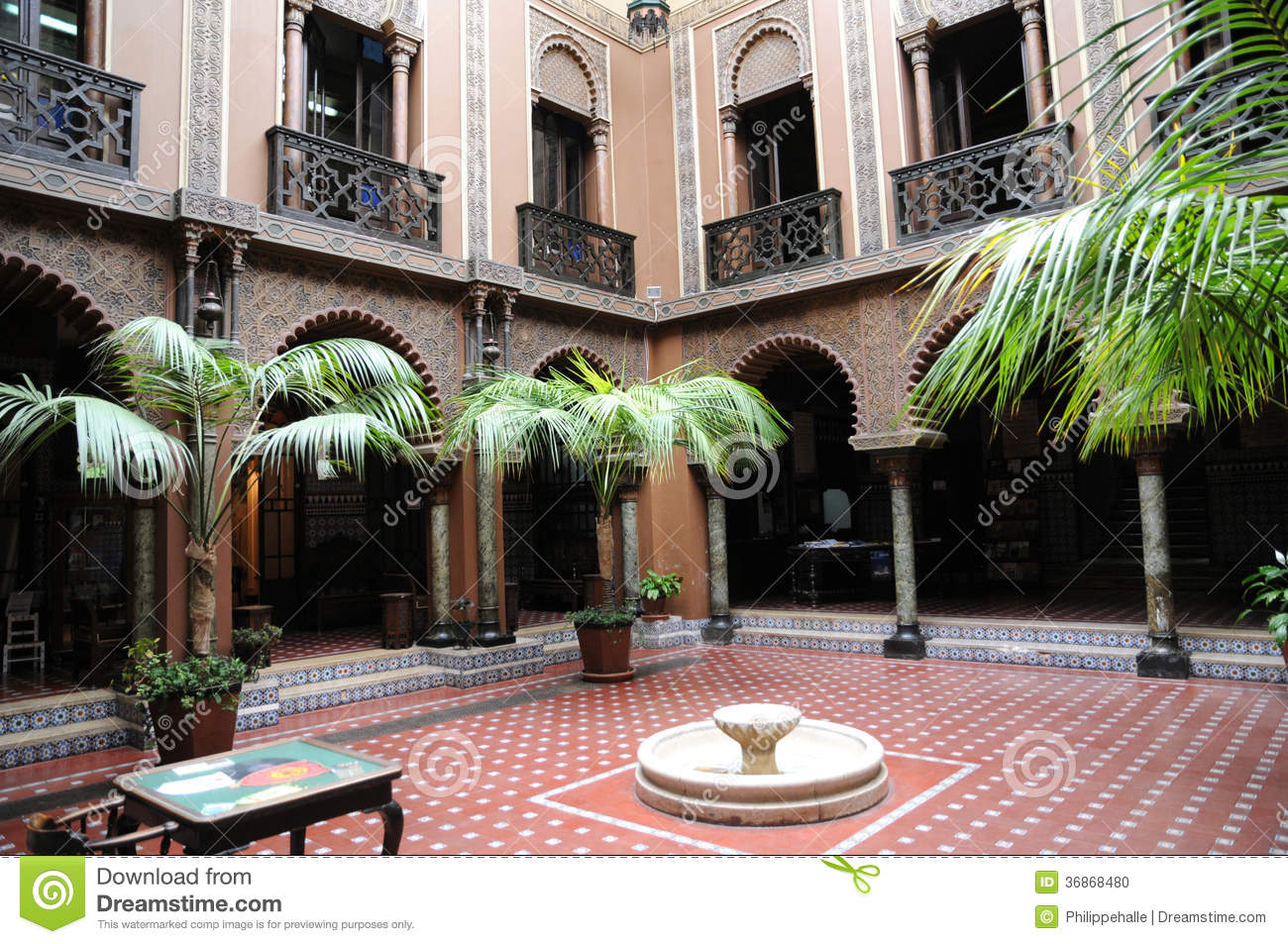 Casa Do Alentejo An Moorish Style Hotel In Lisbon Stock