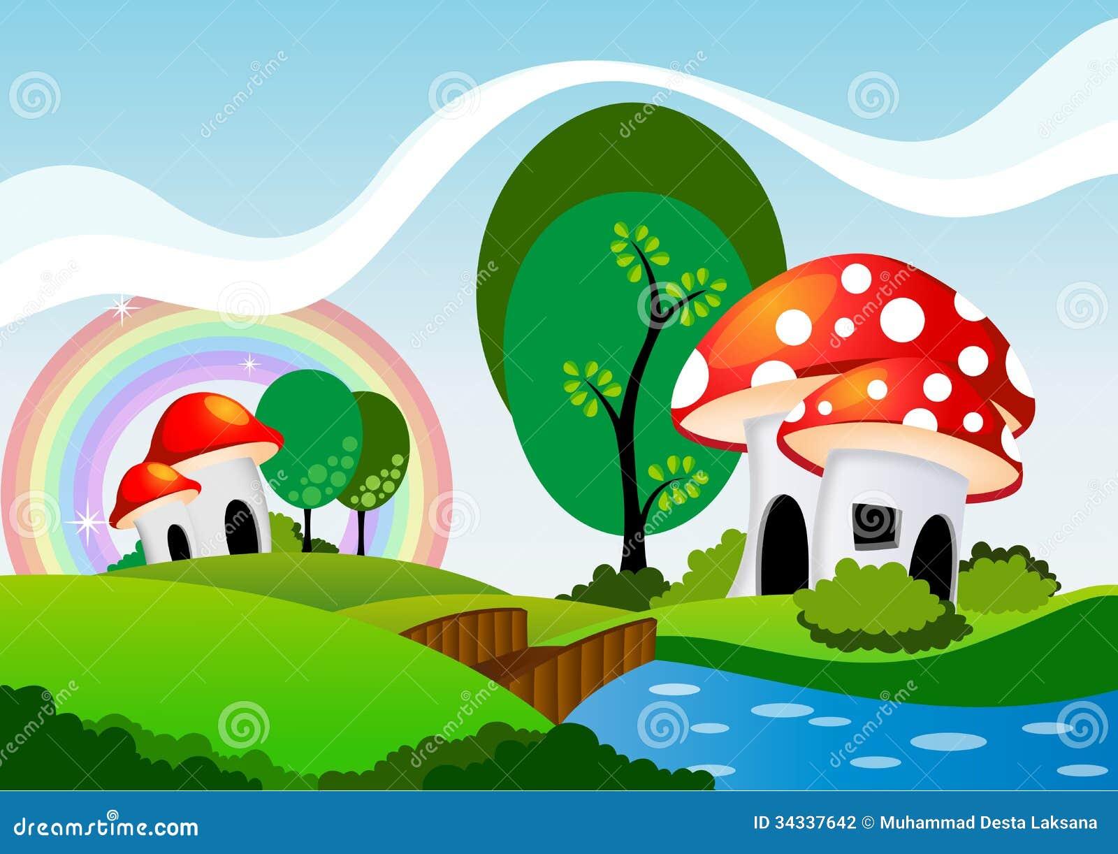 Casa Do Cogumelo Fotografia De Stock Imagem 34337642