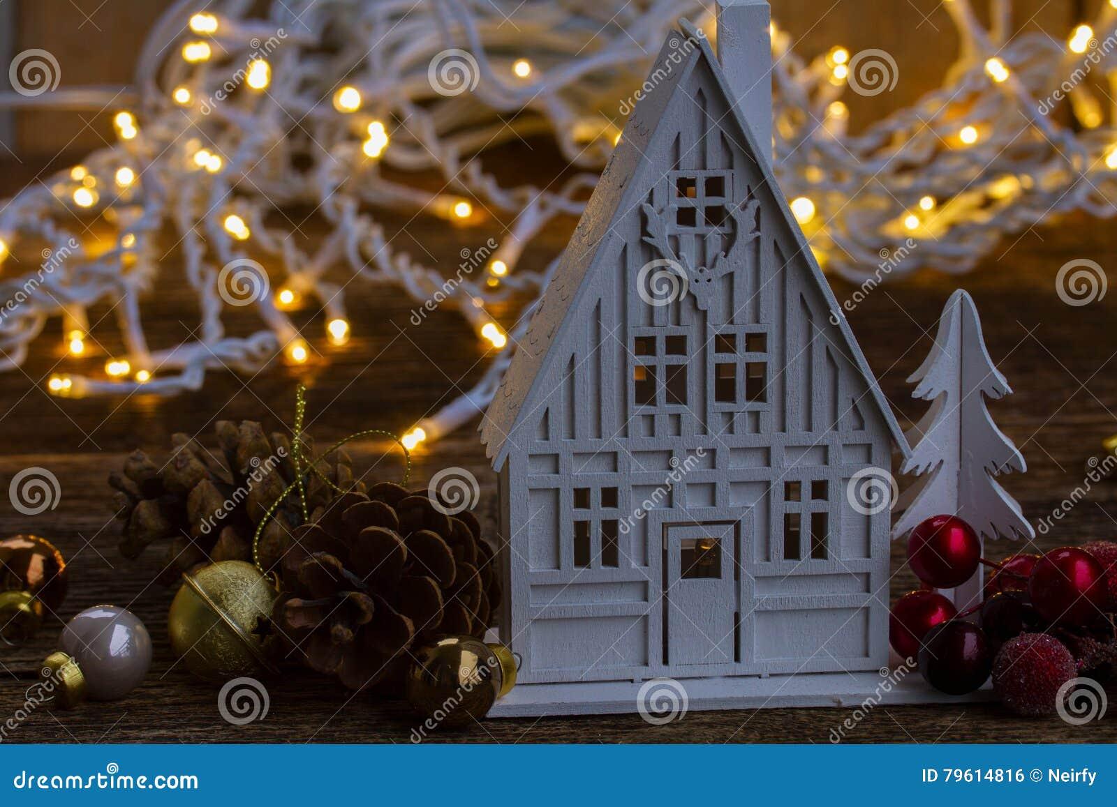 Casa do Natal branco