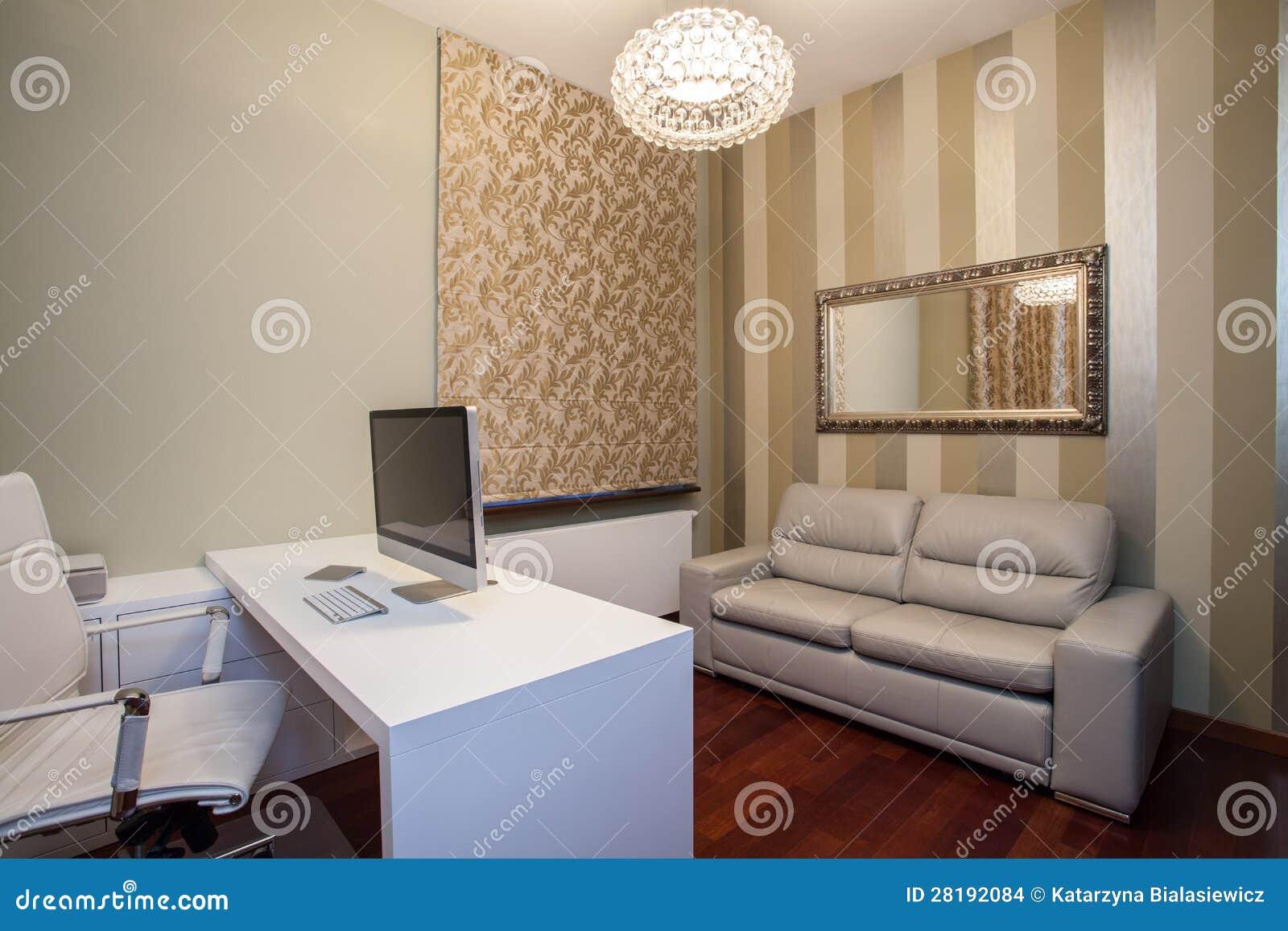 Casa do travertino - escritório domiciliário moderno