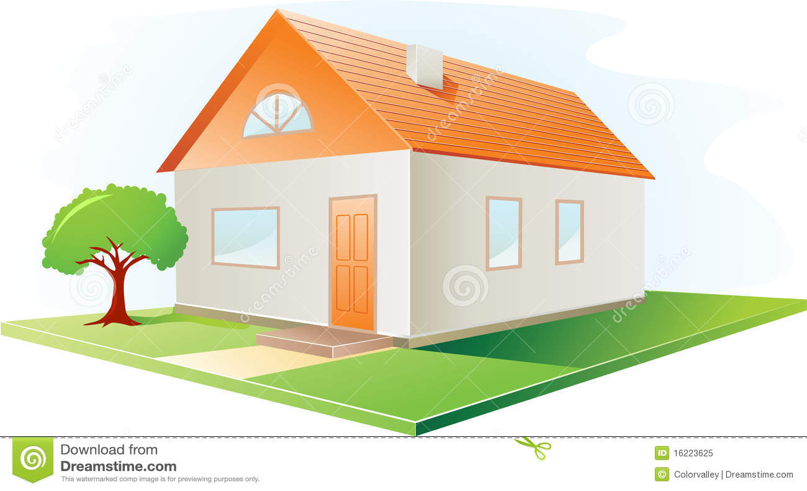 casa do vetor foto de stock royalty free imagem 16223625. Black Bedroom Furniture Sets. Home Design Ideas