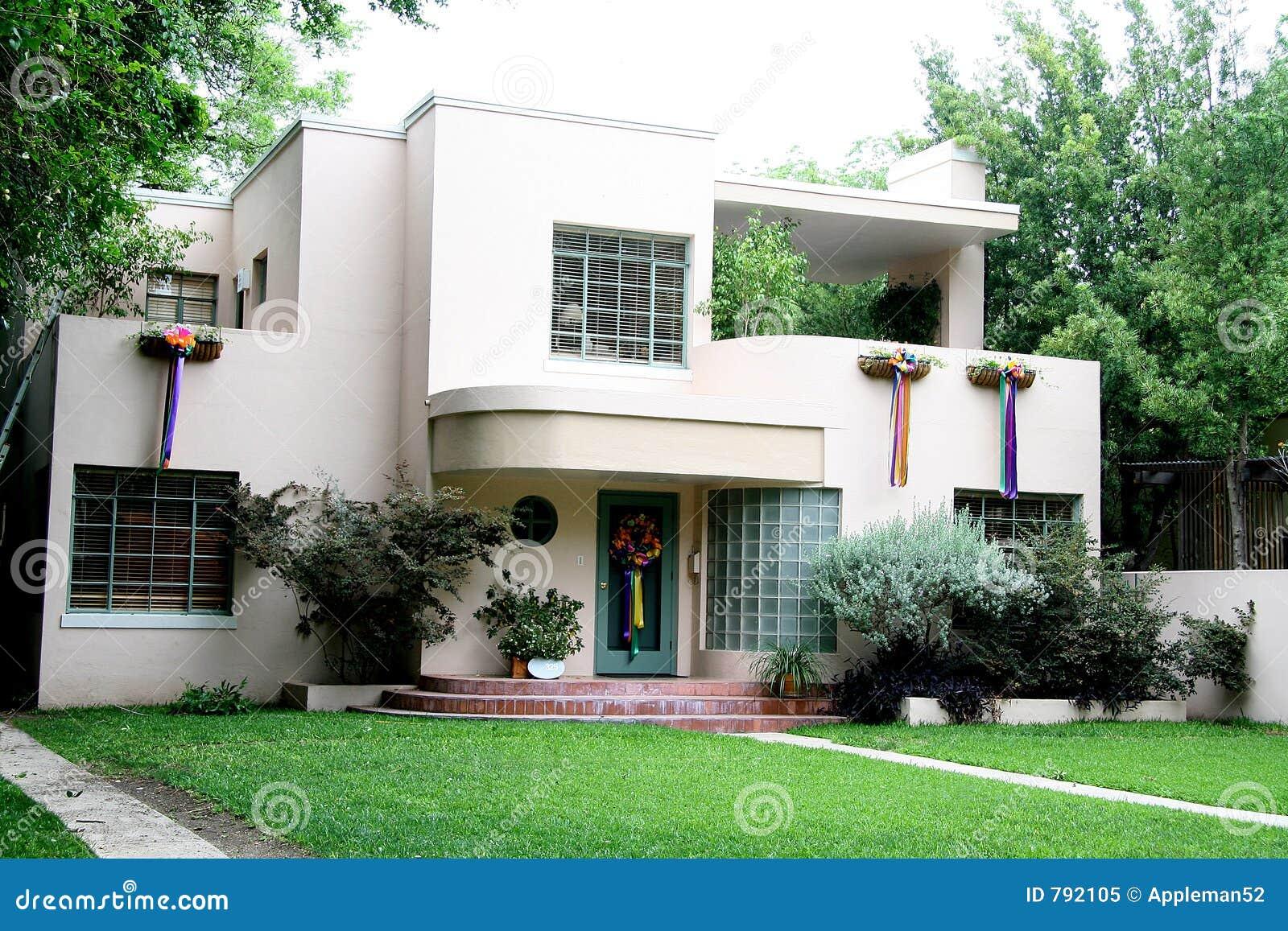 Casa dos anos 50 imagem de stock imagem de vintage deco for Free house photos