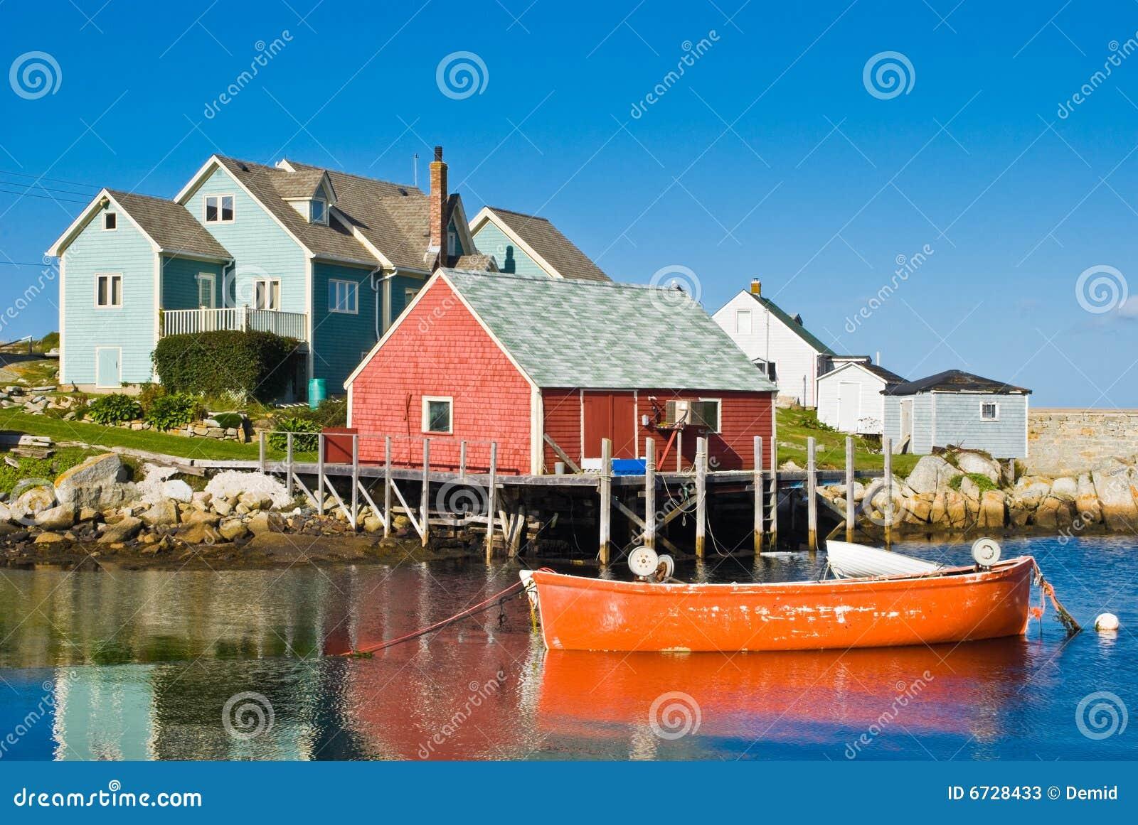 Casa e barcos do pescador.