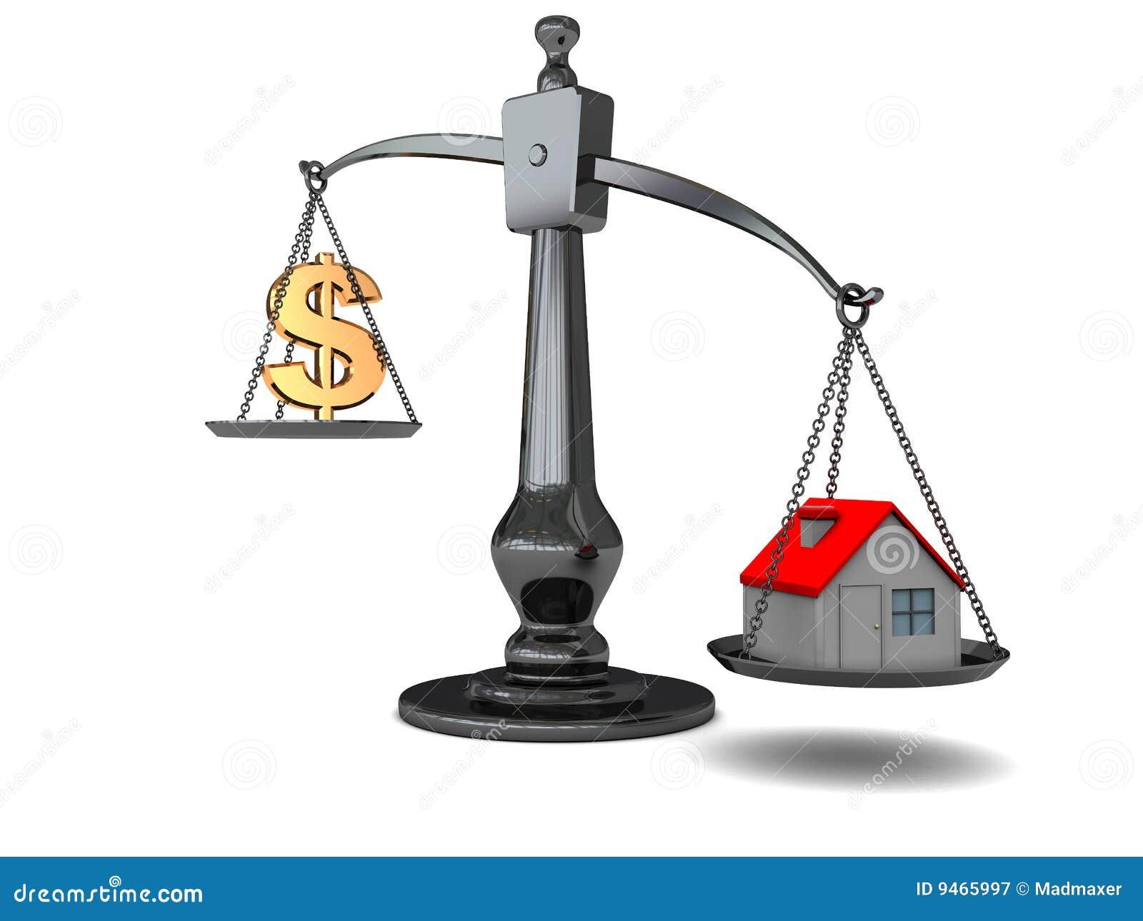 Casa e dinheiro na escala