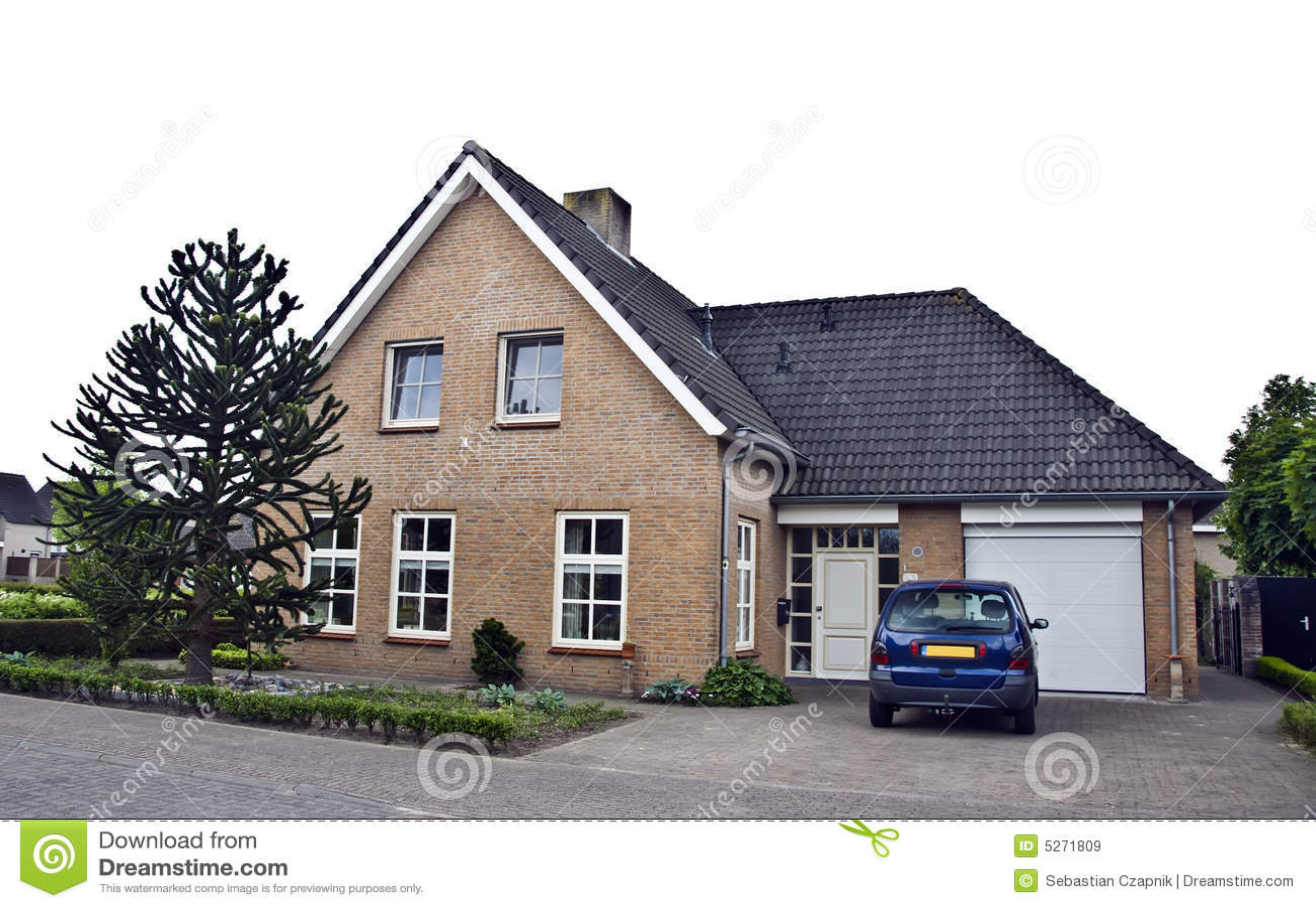Casa e jardim modernos imagens de stock royalty free for Casa holandesa moderna