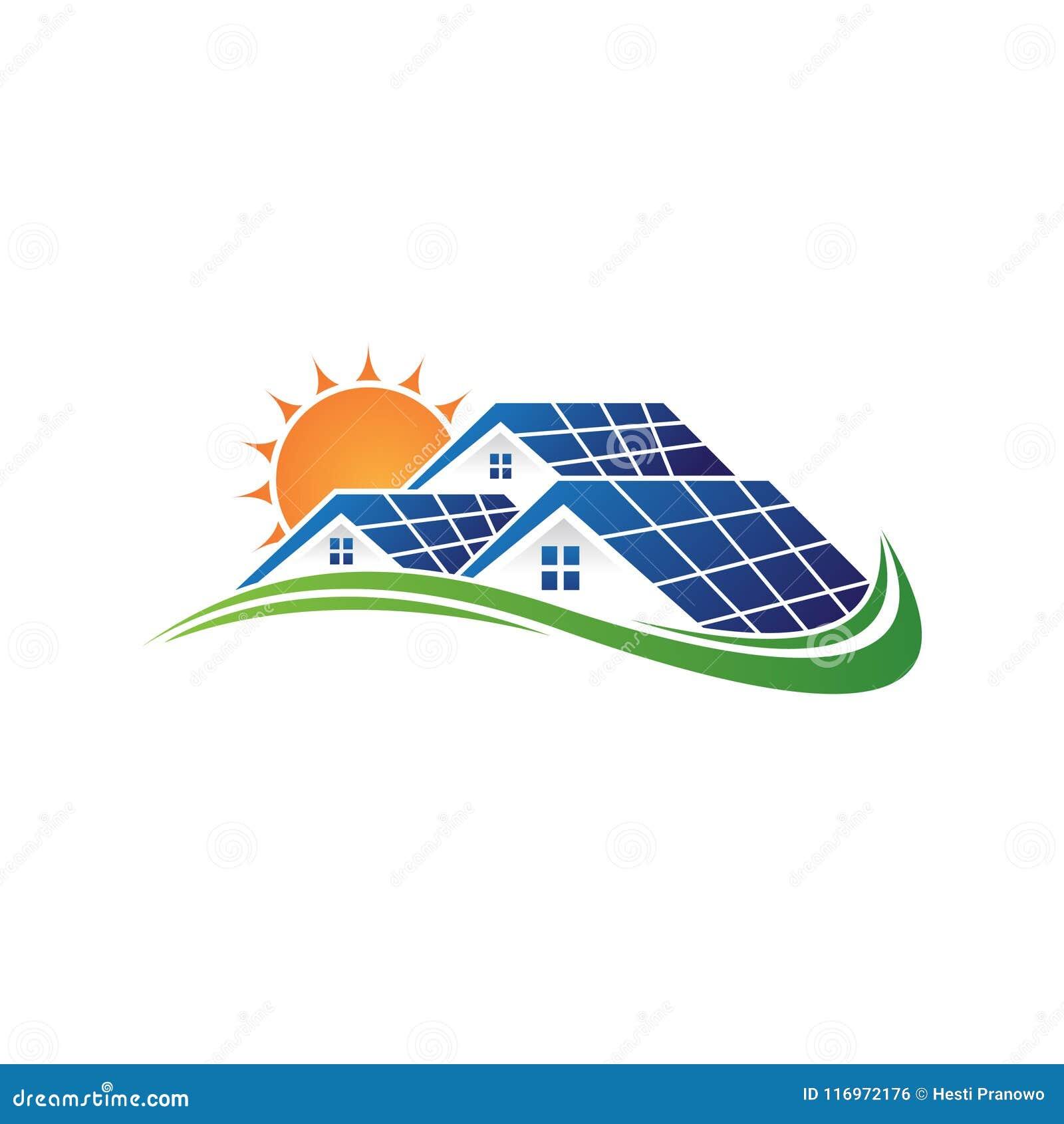 A casa e o sol solares salvar a bateria solar do poder da energia e da eletricidade natural