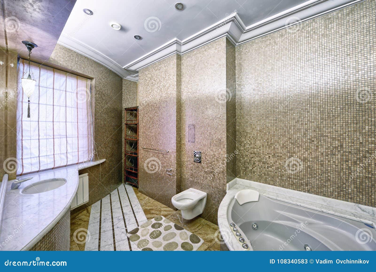 Cuartos De Baño Diseño | Casa Elegante Del Lujo Del Cuarto De Bano Del Diseno De Nterior