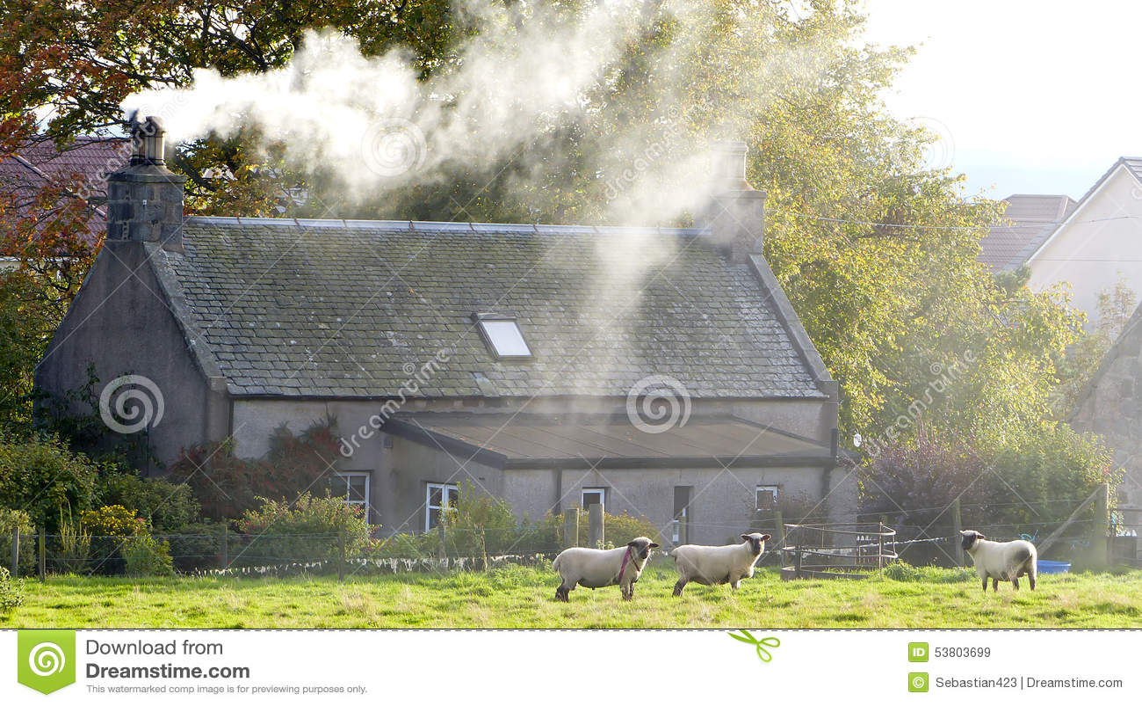 Casa escocesa de la granja