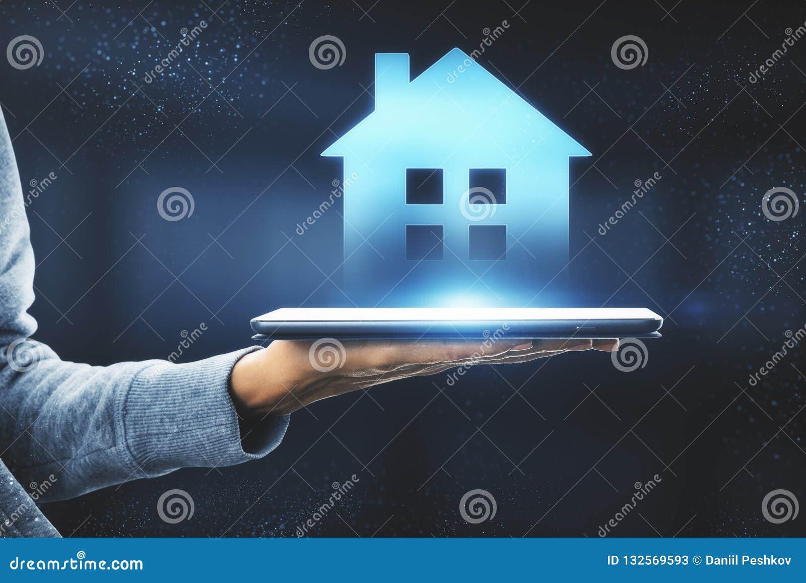 Casa esperta e conceito do AI