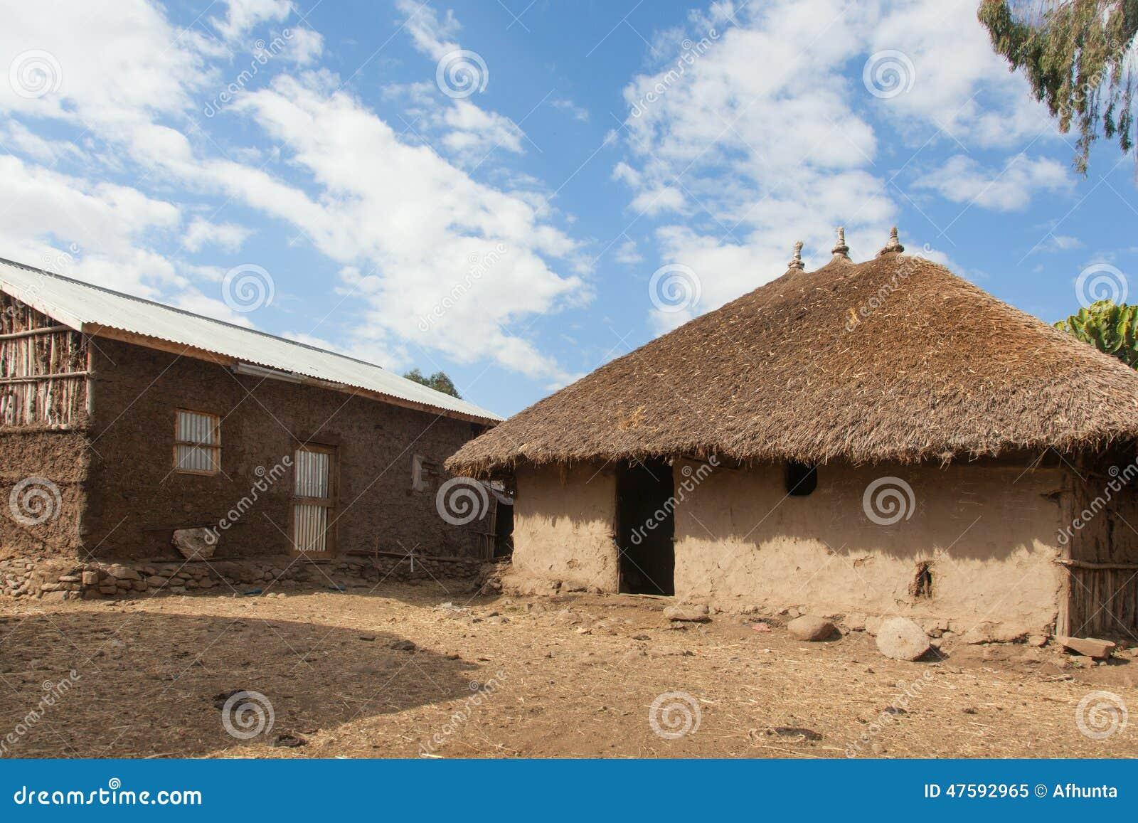 Casa etiopica tradizionale immagine stock immagine di for Casa tradizionale mogoro